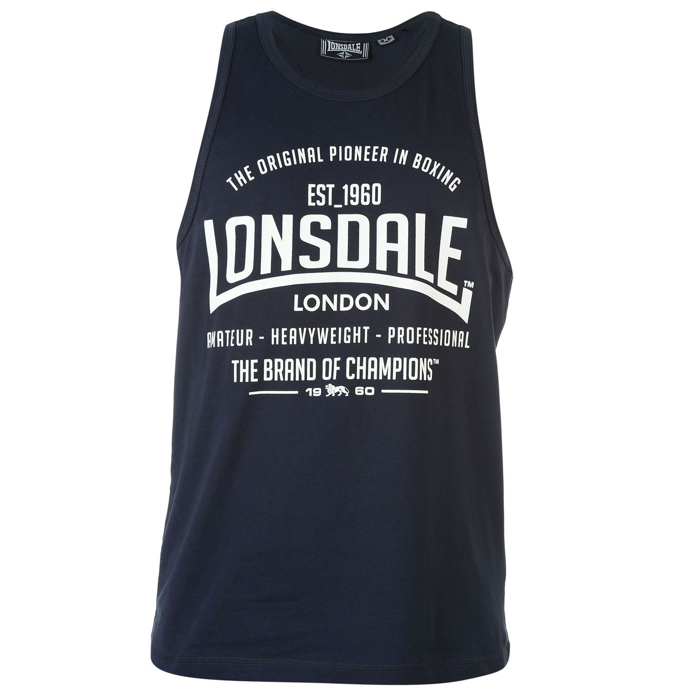 Lonsdale-Boxing-Vests-Top-Sleeveless-Tank-Scooped-Neck-Sports-Mens-Gents