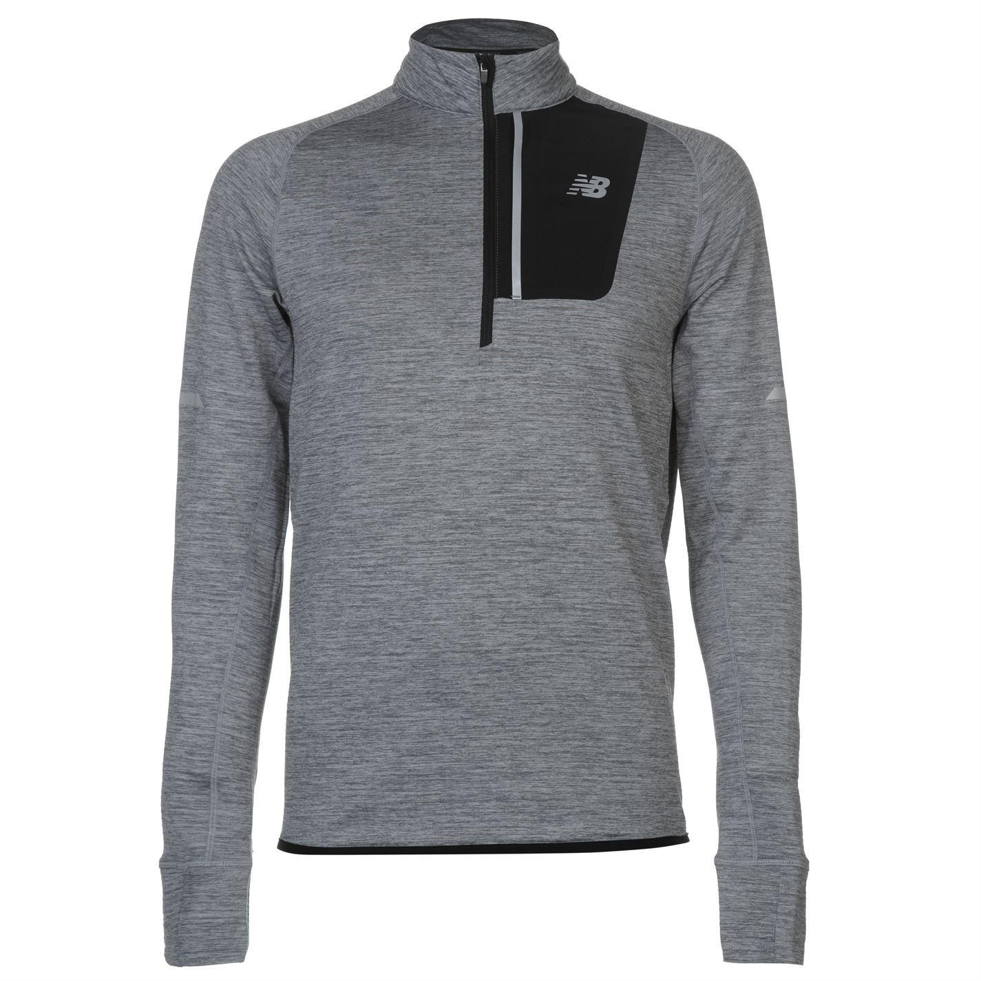 Details about New Balance Mens Heat Half Zip Running Top Long Sleeve  Performance Shirt 789d04502b459