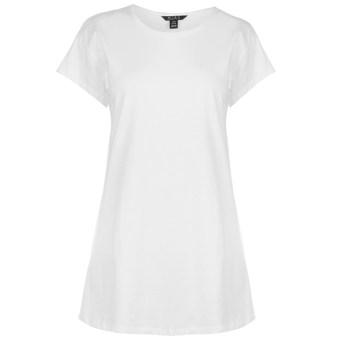 e1782f76 Miso Womens Scoop Boyfriend T Shirt Crew Neck Tee Top Short Sleeve  Lightweight