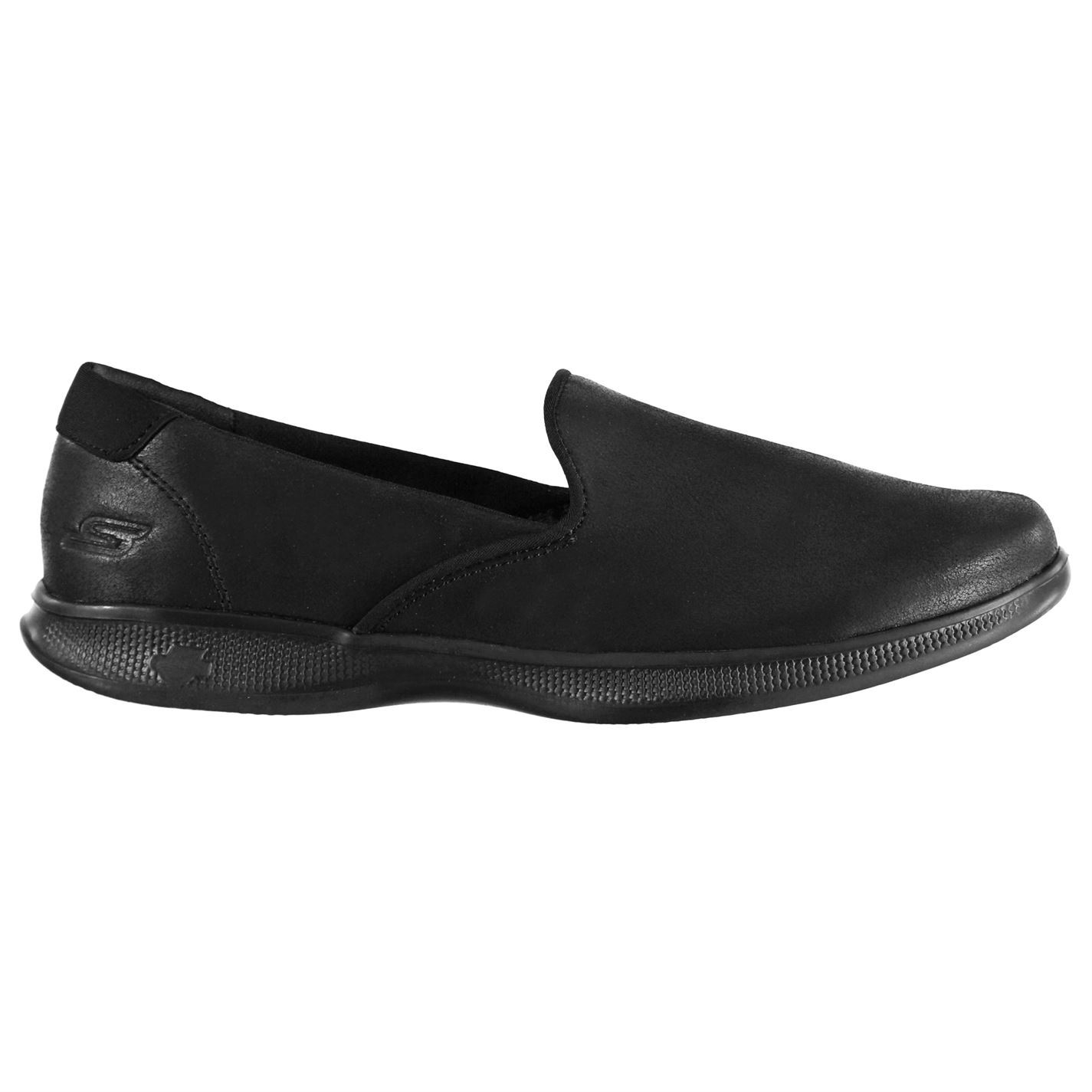 Skechers Damenschuhe GoStep Lite Leder Determined Schuhes Slip On Trainers Leder Lite Upper 75f4fe