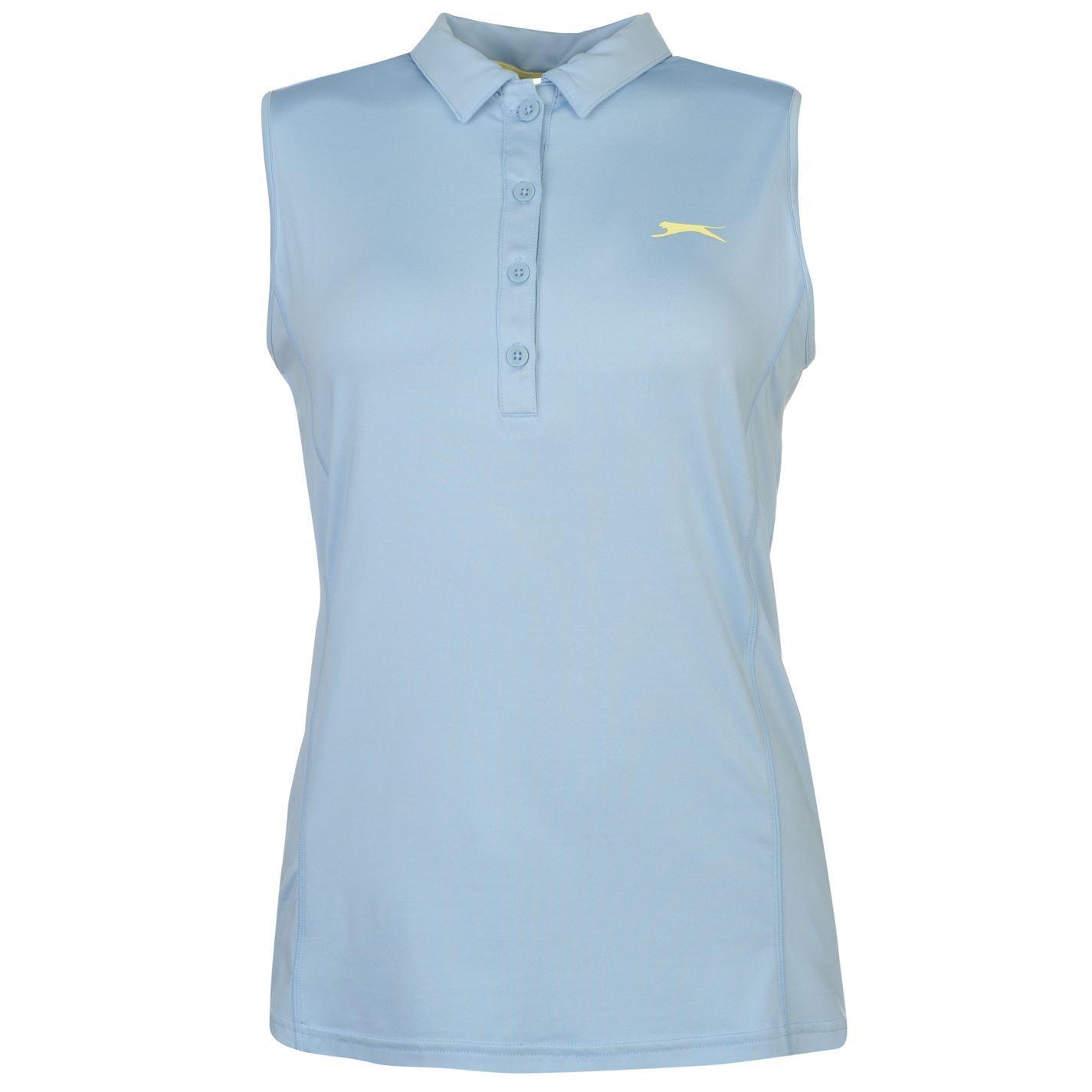 Slazenger Womens Sleeveless Golf Polo Tee Shirt Top