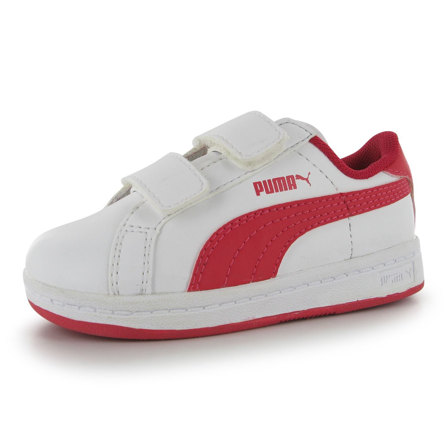 a43968e680cd Details about Puma Kids Boys Smash Trn Childrens Shoes Leather Sport Side  Logo Trainers