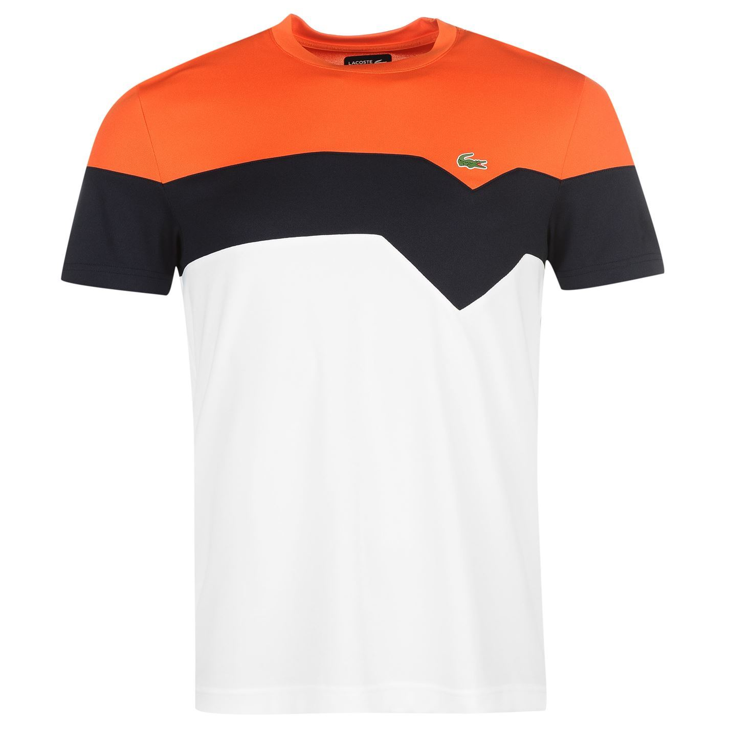 714cb238b209 Details about Lacoste Mens Sport Block Colour T Shirt New