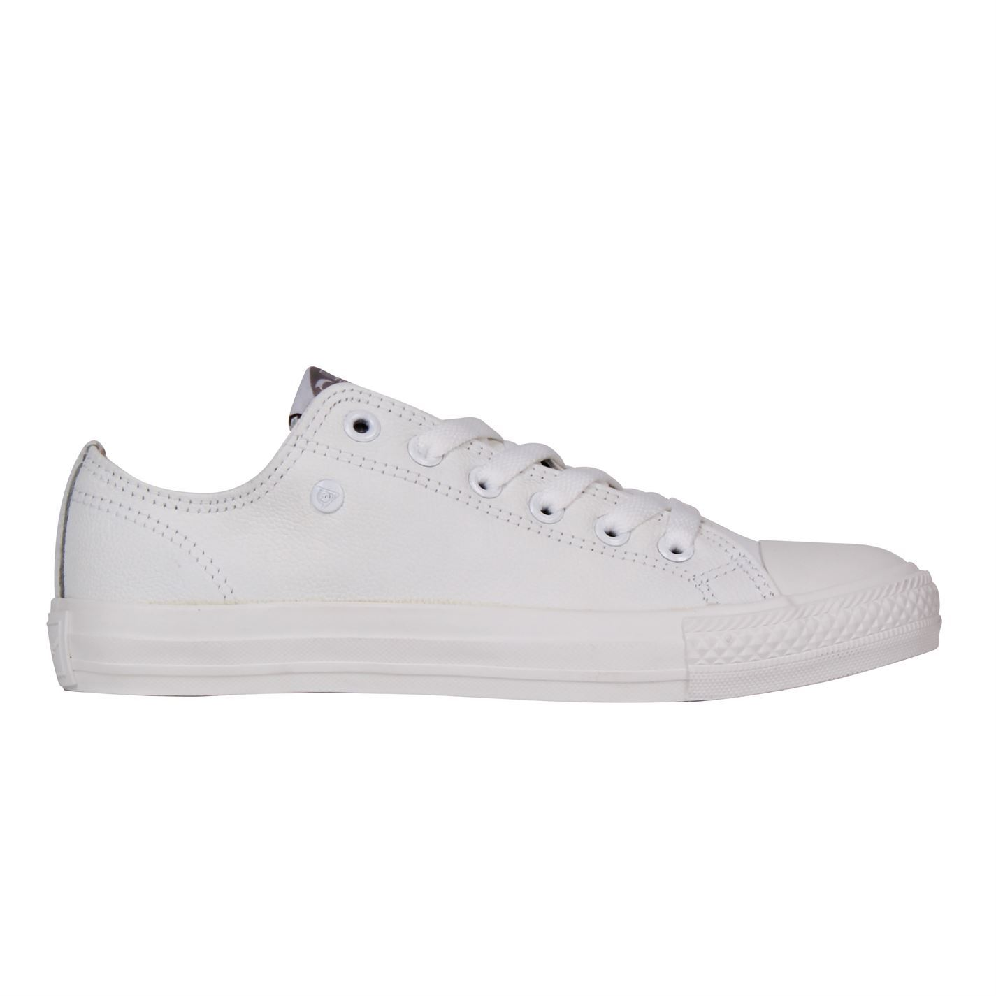 da2a58f619278 Details about Dunlop Womens Leather Low Trainers Sneakers Shoes Lace Up  Tonal Stitching
