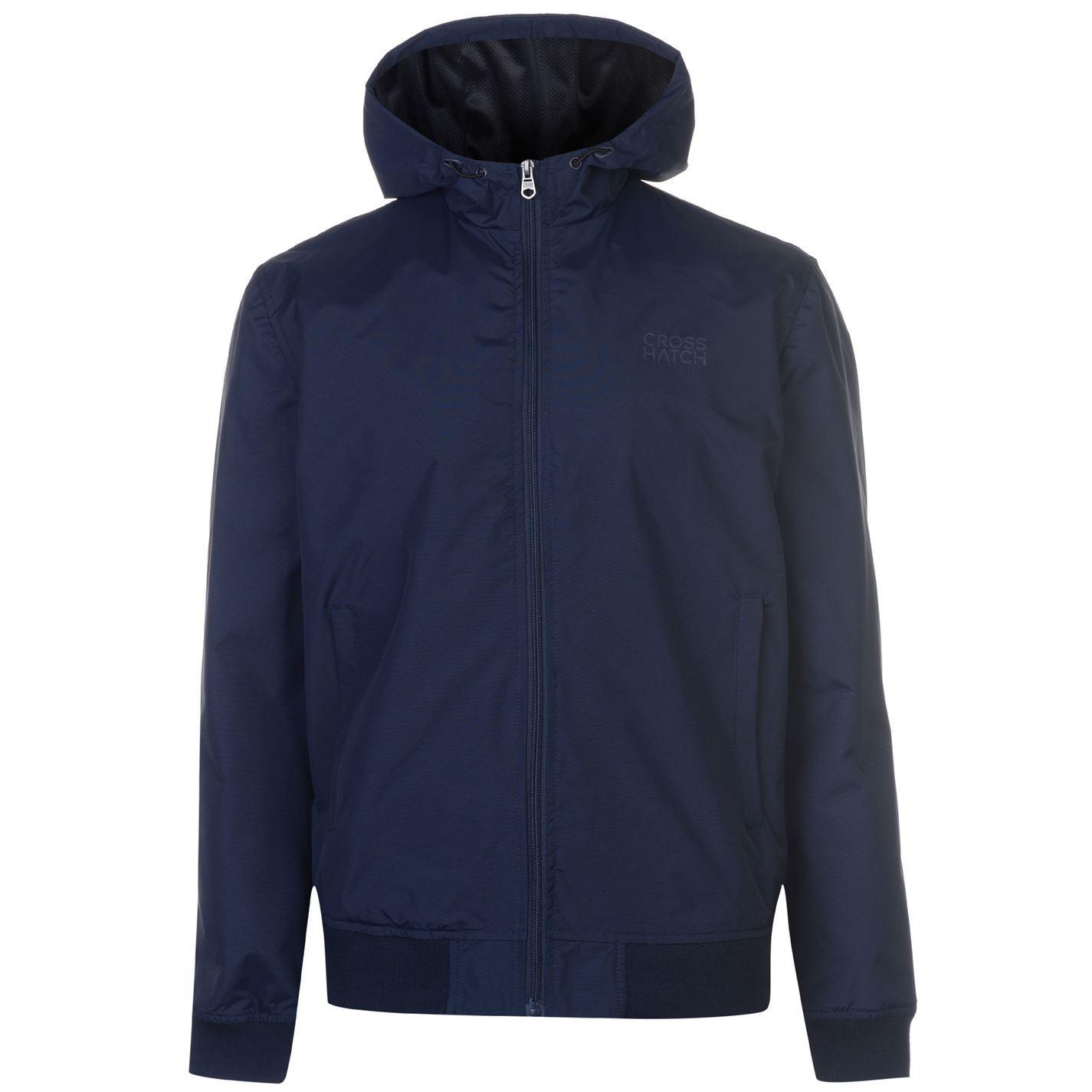 Crosshatch Saverio Jacket Mens Gents Nylon Coat Top Lightweight ... 445ee719f4