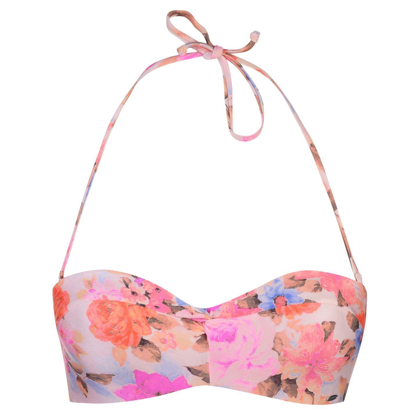 ONeill-Womens-Festival-Padded-Bandeau-Bikini-Top-Pattern-Floral