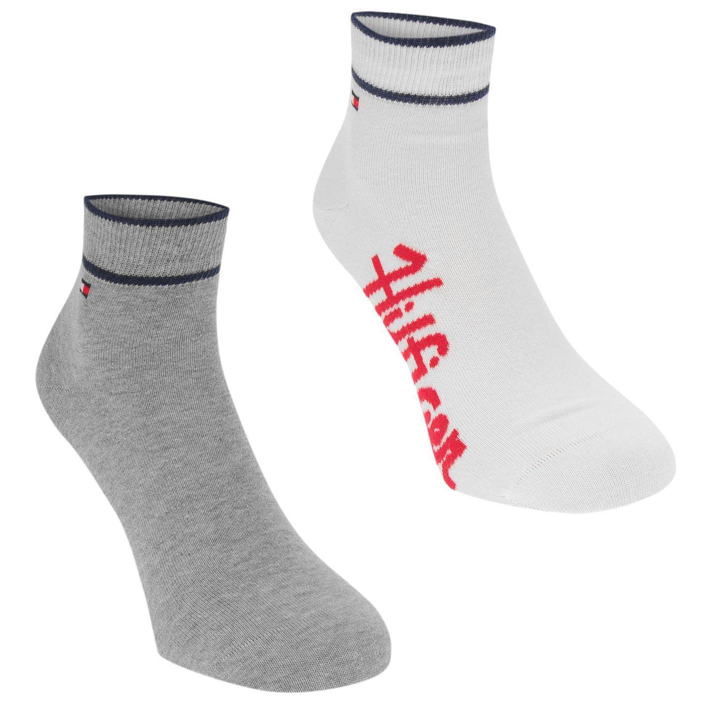 e4d17259 Tommy Hilfiger Mens Quarter 2 Pack Socks Trainer Stretch | eBay