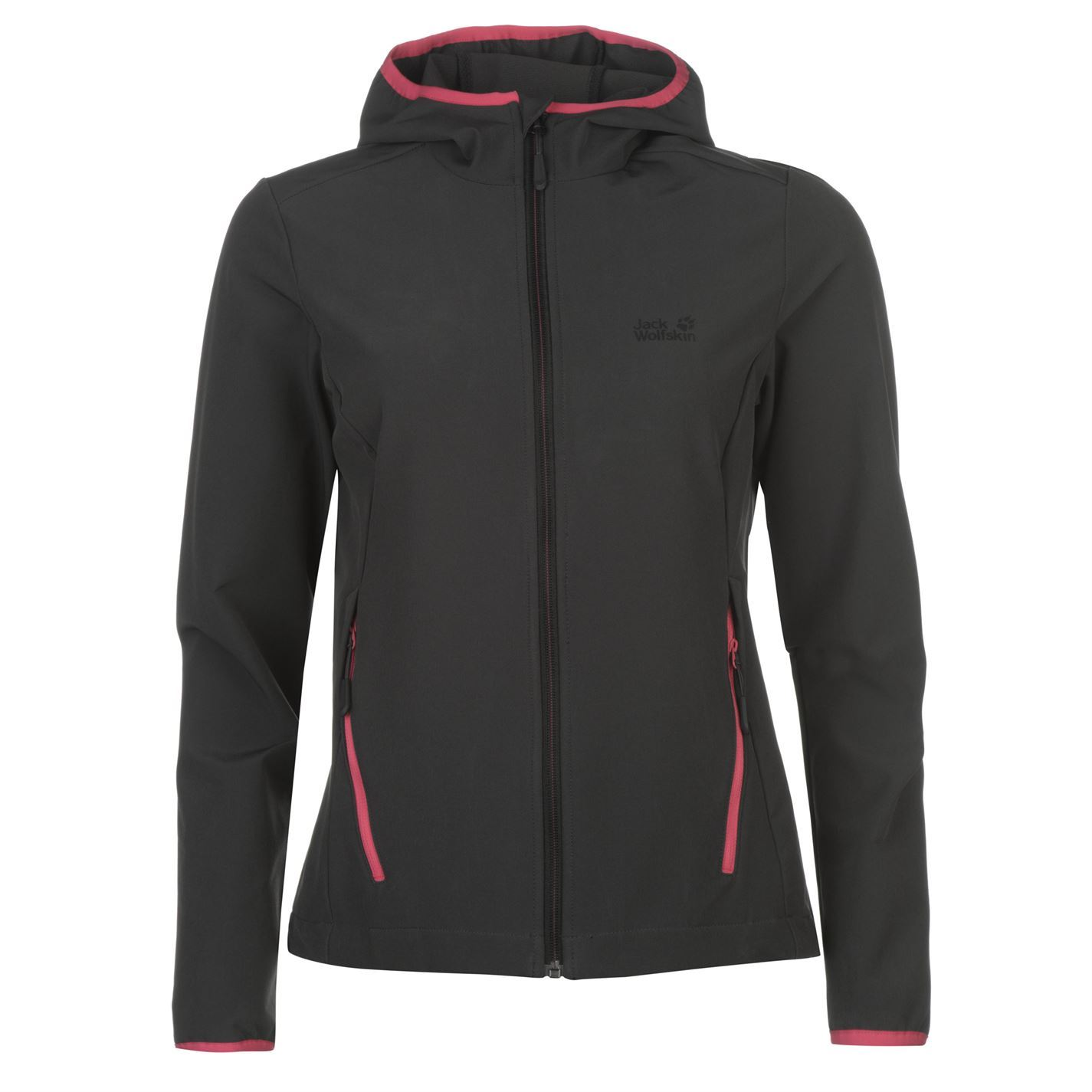d7e705aec4a1 Jack Wolfskin Turbulence Soft Shell Jacket Ladies Softshell Coat Top ...