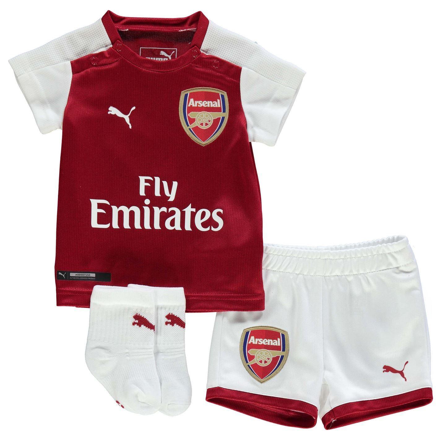 Puma Kids Arsenal Home Baby Kit 2017 2018 Shirt Shorts Socks Short