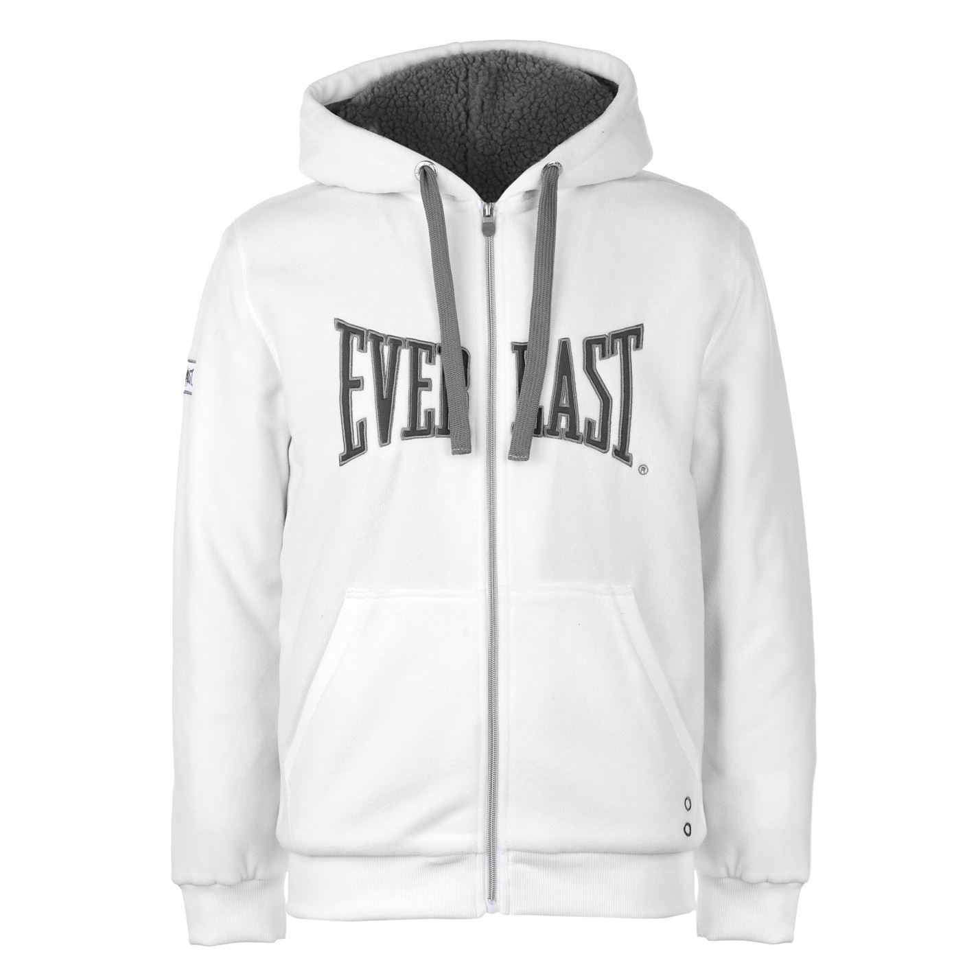 Details about Everlast Mens Polar Fleece Zip Hoody Lined Hoodie Hooded Top  Long Sleeve Full a54f7894d47b