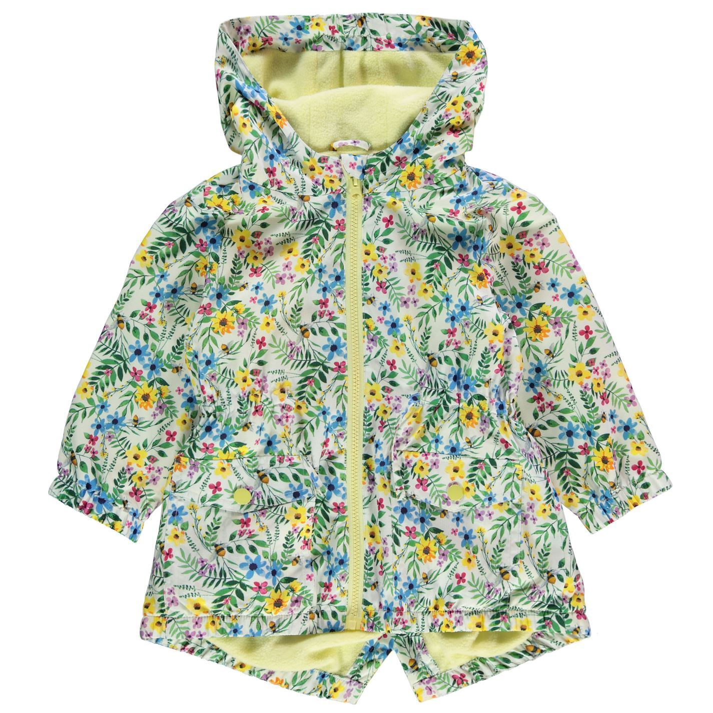9c3f0d300 Crafted Kids Girls Rain Mac Infant Jacket Coat Top Long Sleeve Water ...