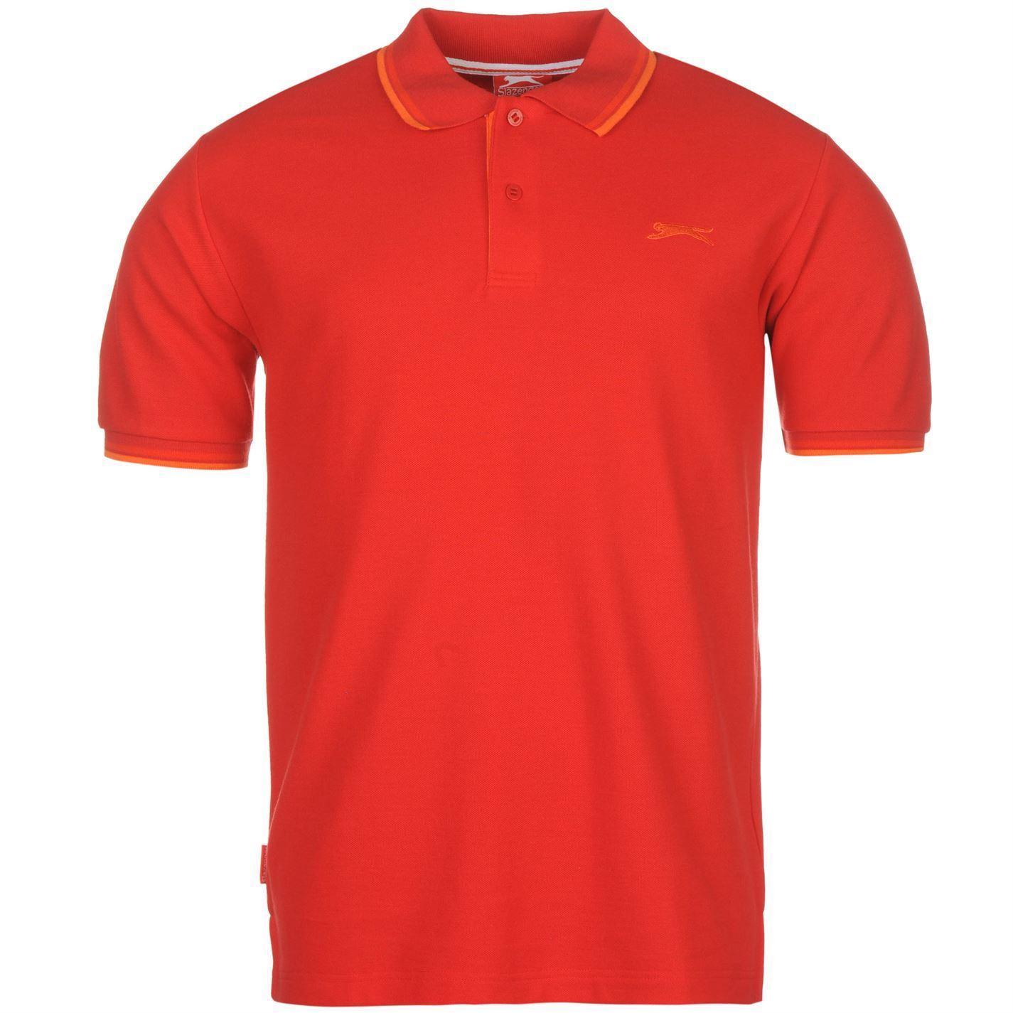 Slazenger-Mens-Tipped-Polo-Shirt-Short-Sleeve-Classic-Fit-Tee