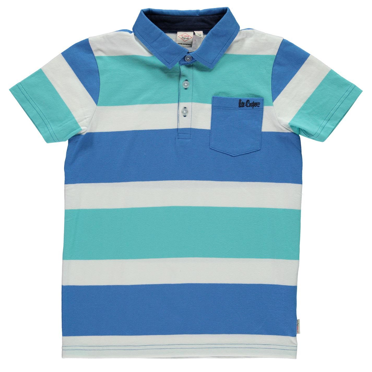 Lee-Cooper-Kids-Stripe-Polo-Shirt-Junior-Classic-Fit-Tee-Top-Short-Sleeve-Chest