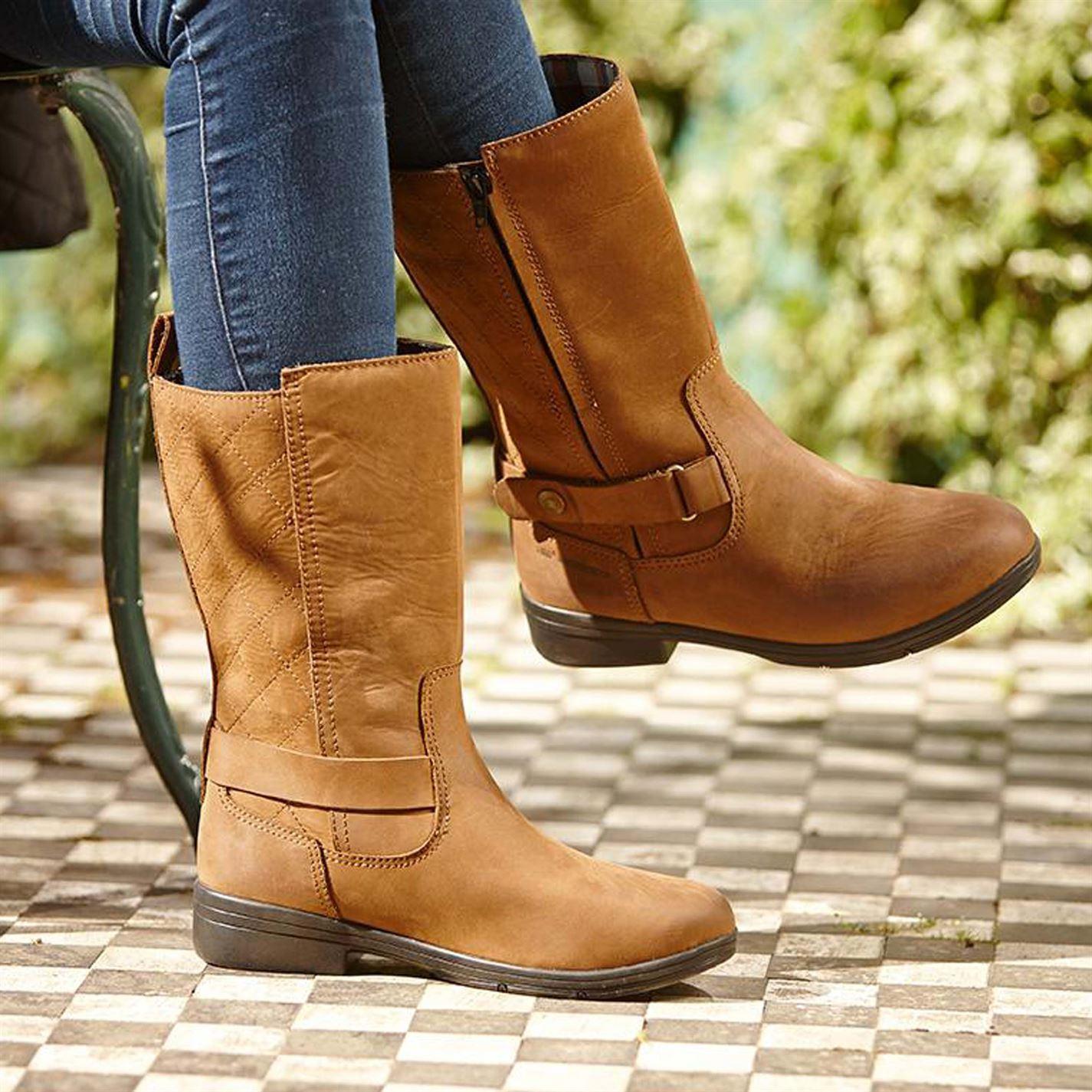 Dublin Stivali Da Donna Cherwell Mid Zip profilo Impermeabile Traspirante Paese basso profilo Zip 34f32d