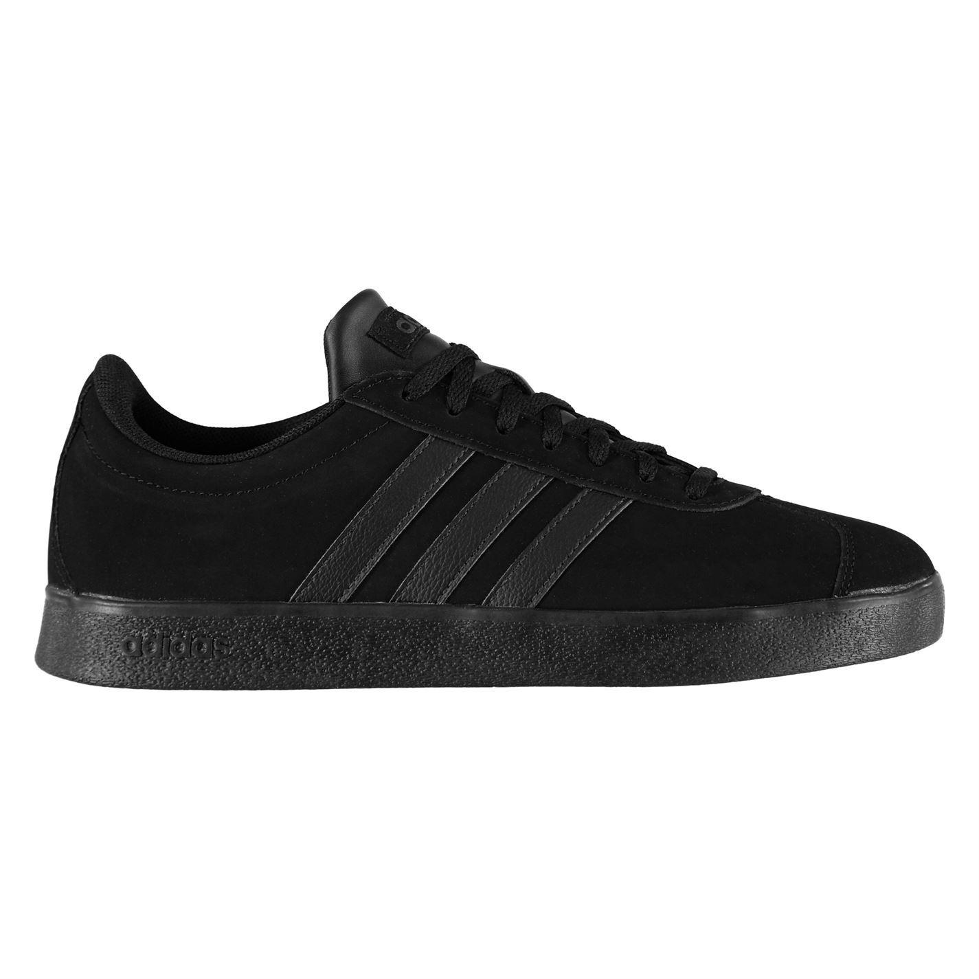 Gents Tripleblack Vl Court pelle imbottita con Sneakers caviglia lacci in Gents nabuk in Adidas e scamosciata Mens paXwSqS