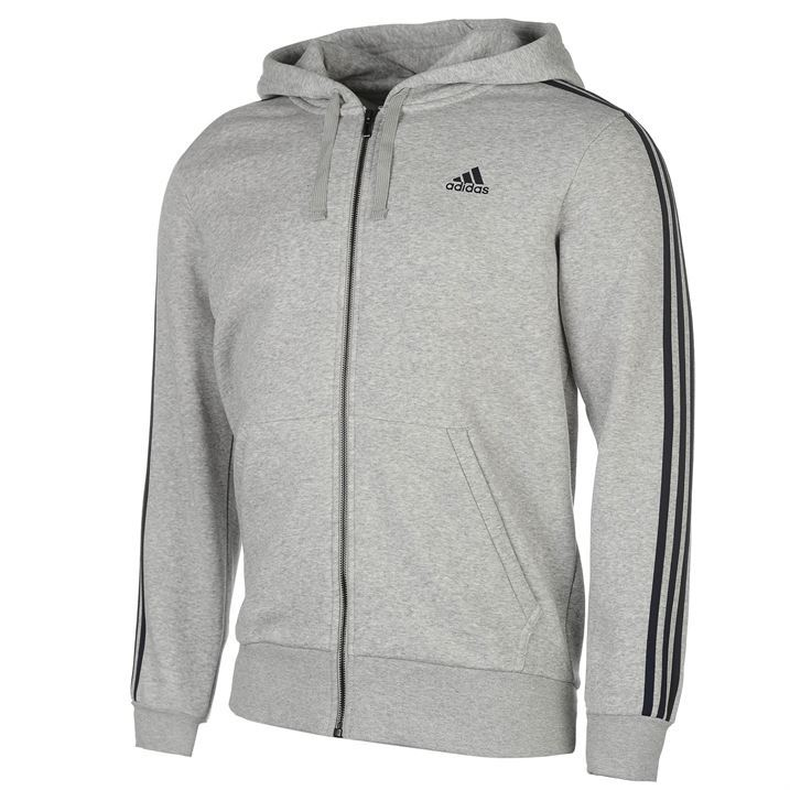 b2f1a52a5 Image is loading adidas-Mens-Gents-Essentials-3-Stripe-Logo-Hoodie-