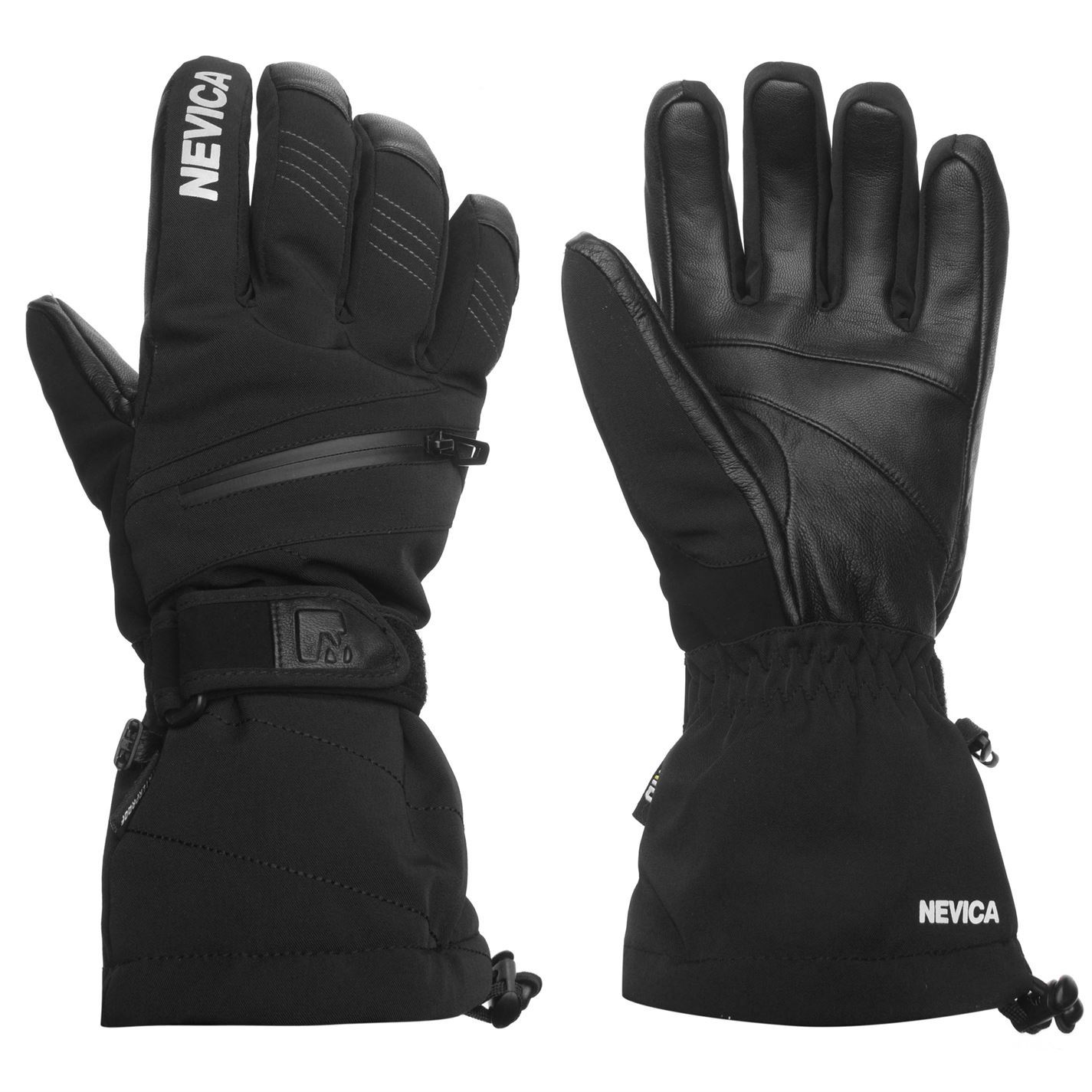 f7f69209e3 Nevica Mens Vail Ski Gloves Waterproof Windproof Breathable Zip ...