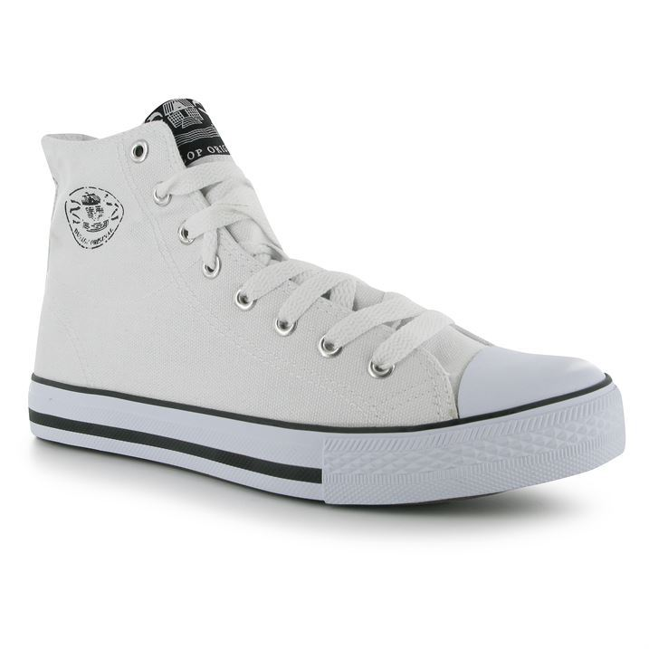 c071578ee8c Mens Dunlop Mens Canvas High Top Trainers New