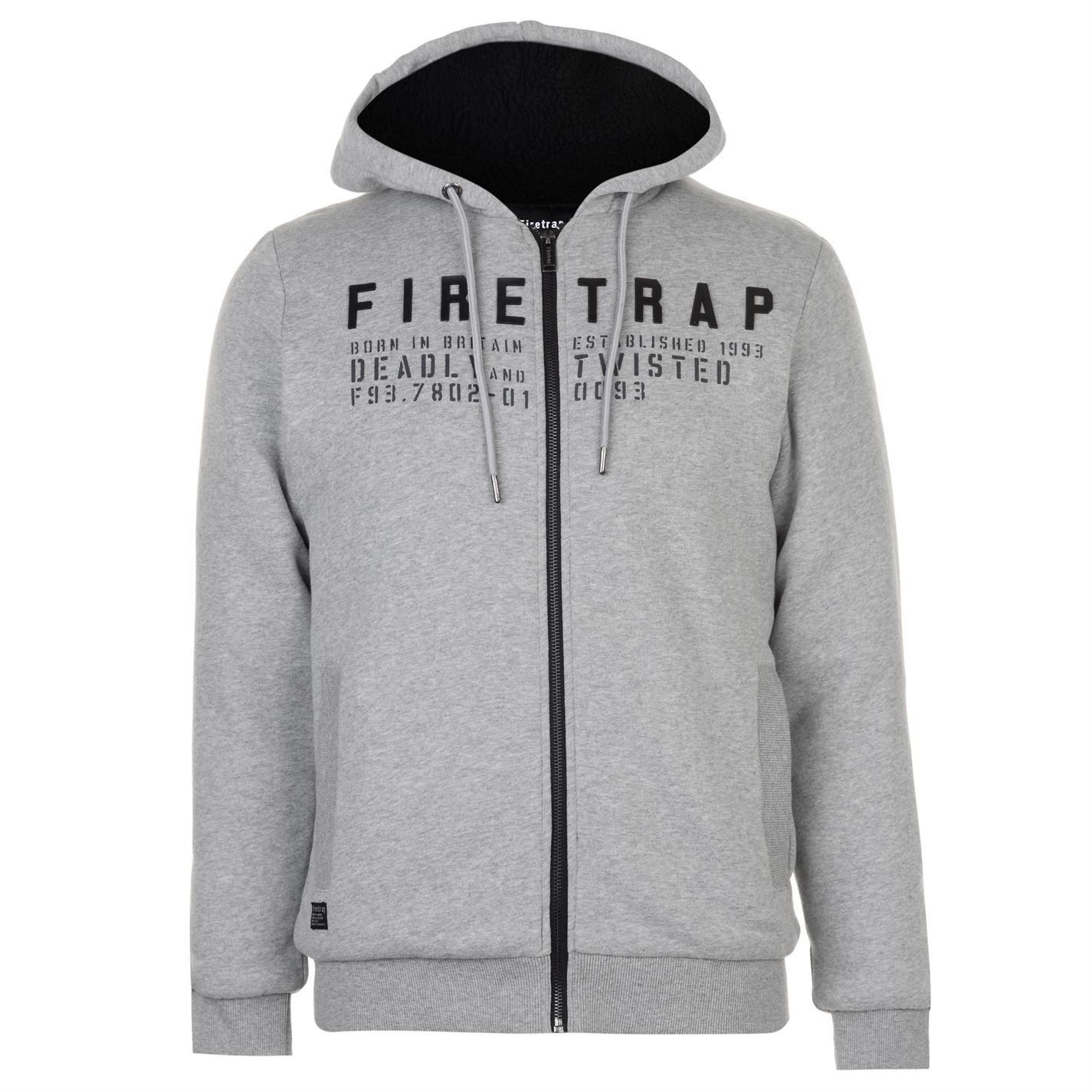 Firetrap-Mens-Lined-Zipped-Through-Hoody-Hoodie-Hooded-Top-Cotton-Zip-Insulated
