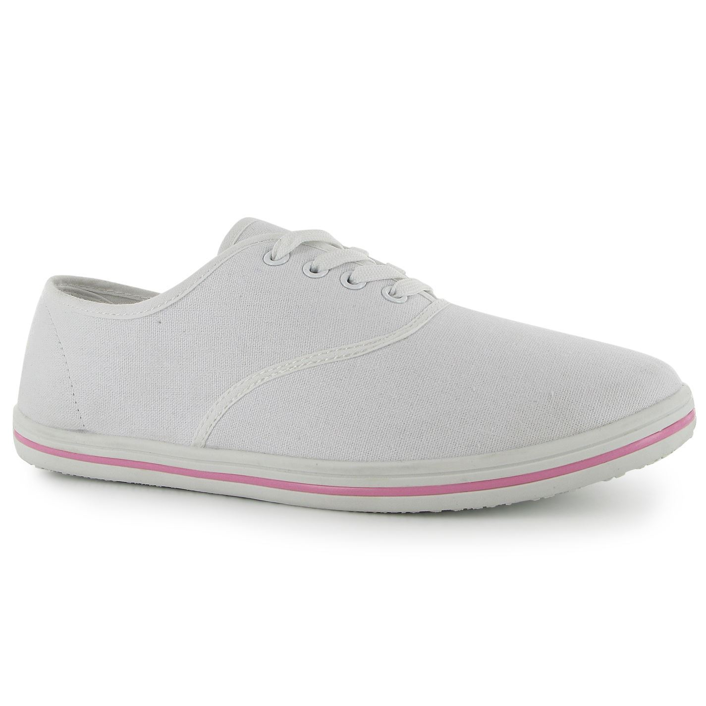Details about Slazenger Womens Ladies Canvas Pumps Lace Up Shoes  Lightweight Casual Footwear 65bdc7e9d