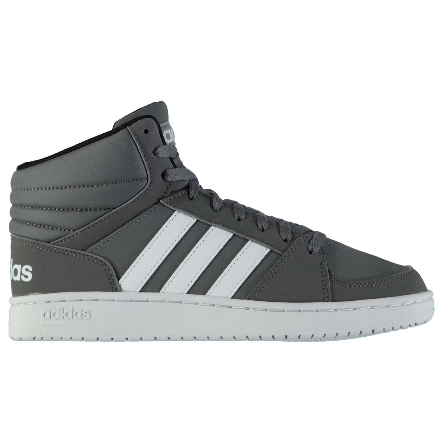 Adidas  Uomo Hoops High Mid Nubuck Hi Top High Hoops Lace Up Retro Tonal Stitching Stripe 7cbbac