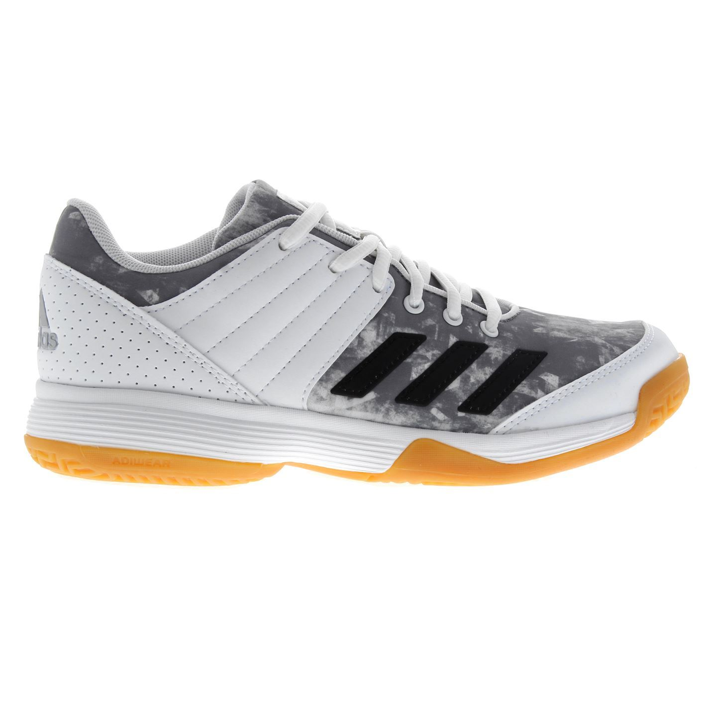 cd19427c6c1735 adidas Womens Ladies Ligra 5 Squash Shoes Lace Up Padded Ankle Collar Tongue