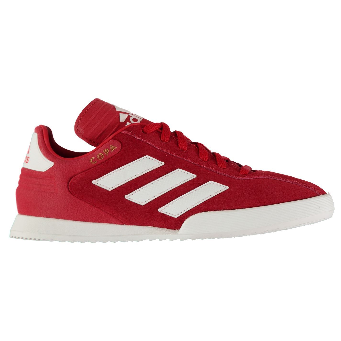 5736b58e32cb ... good adidas kids boys copa super suede trainers lace up padded ankle  collar stripe 66c7b 195a0