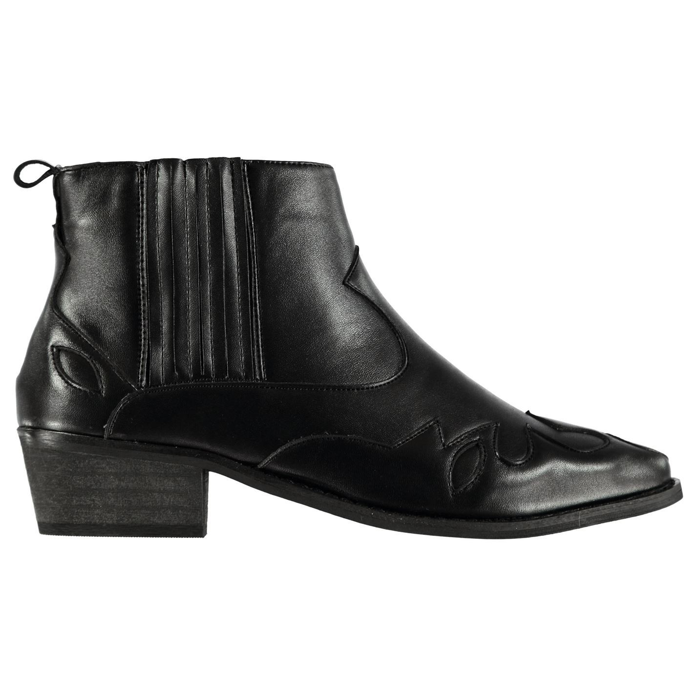 Damenschuhe Glamorous Cowboy Stiefel Toe Flat Ankle Pointed Toe Stiefel New 80ffe7
