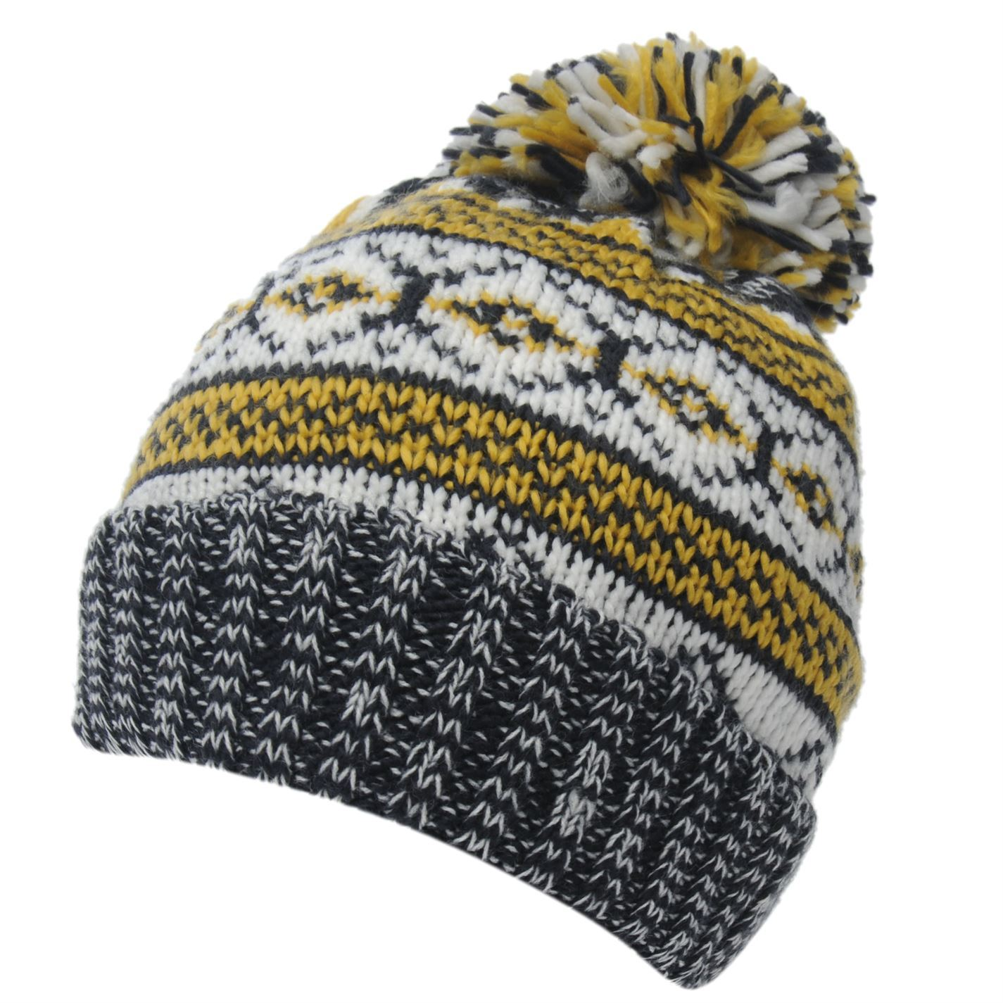 41cb85ba463 Crafted Fairisle Pom Pom Beanie Child Boys Keep snug outside on those  chillier days with this Crafted Fairisle Pom Pom Beanie - made up of a  knitted ...