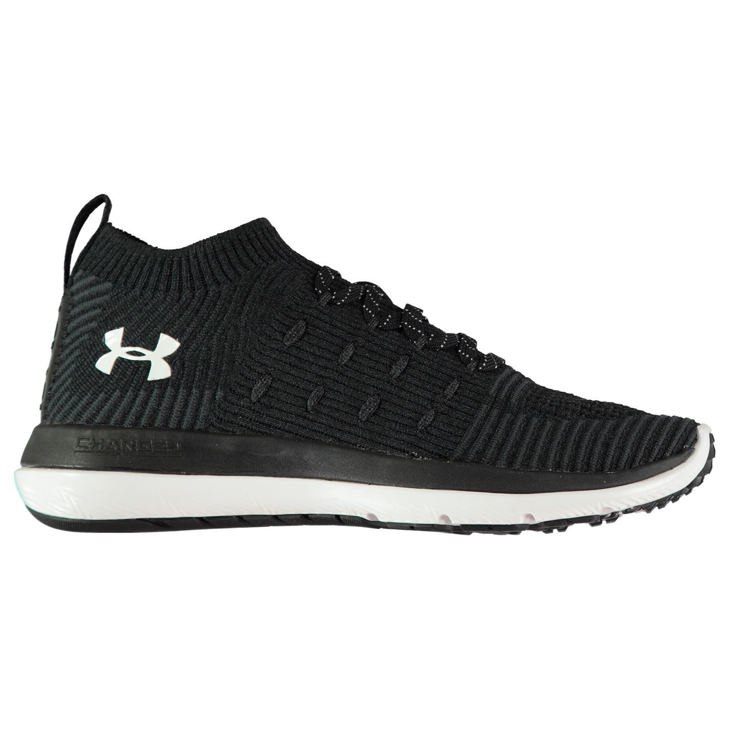 Under Armour Slingflex Mid Sneakers Ladies Runners Laces Fastened Padded Ankle