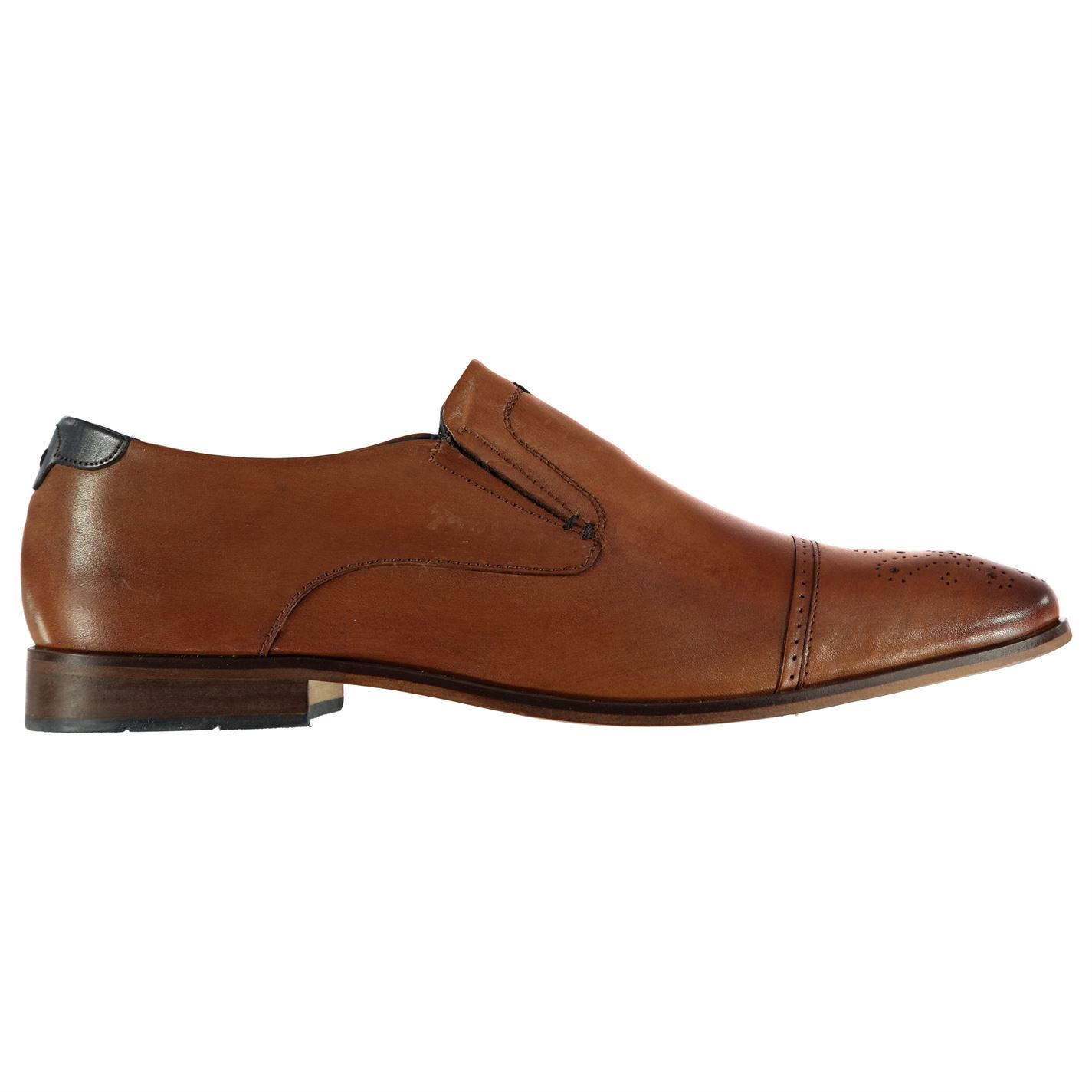 POD  Uomo Brogue Schuhes Heel Smart Slip On Slight Heel Schuhes Casual eb82a8