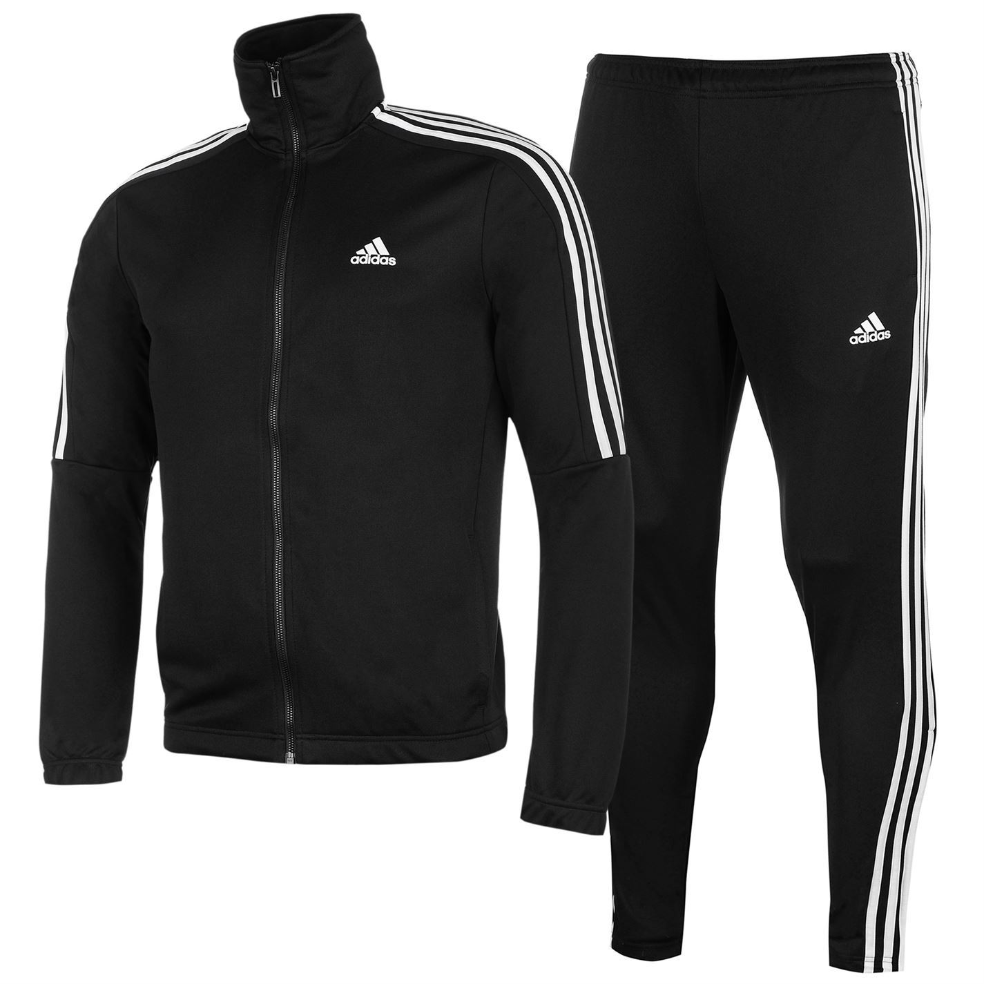 adidas mens tiro poly suit tracksuit stripe print block. Black Bedroom Furniture Sets. Home Design Ideas
