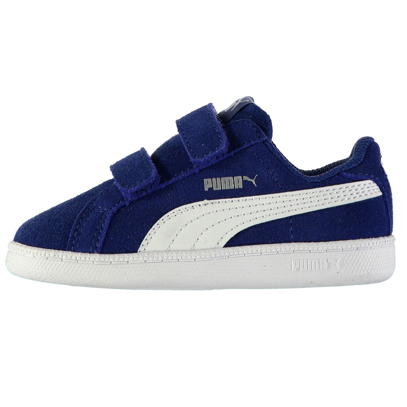 11932ebd912 Details about Puma Kids Smash Suede Fun Trainers Shoes Casual Touch and  Close Infant Boys