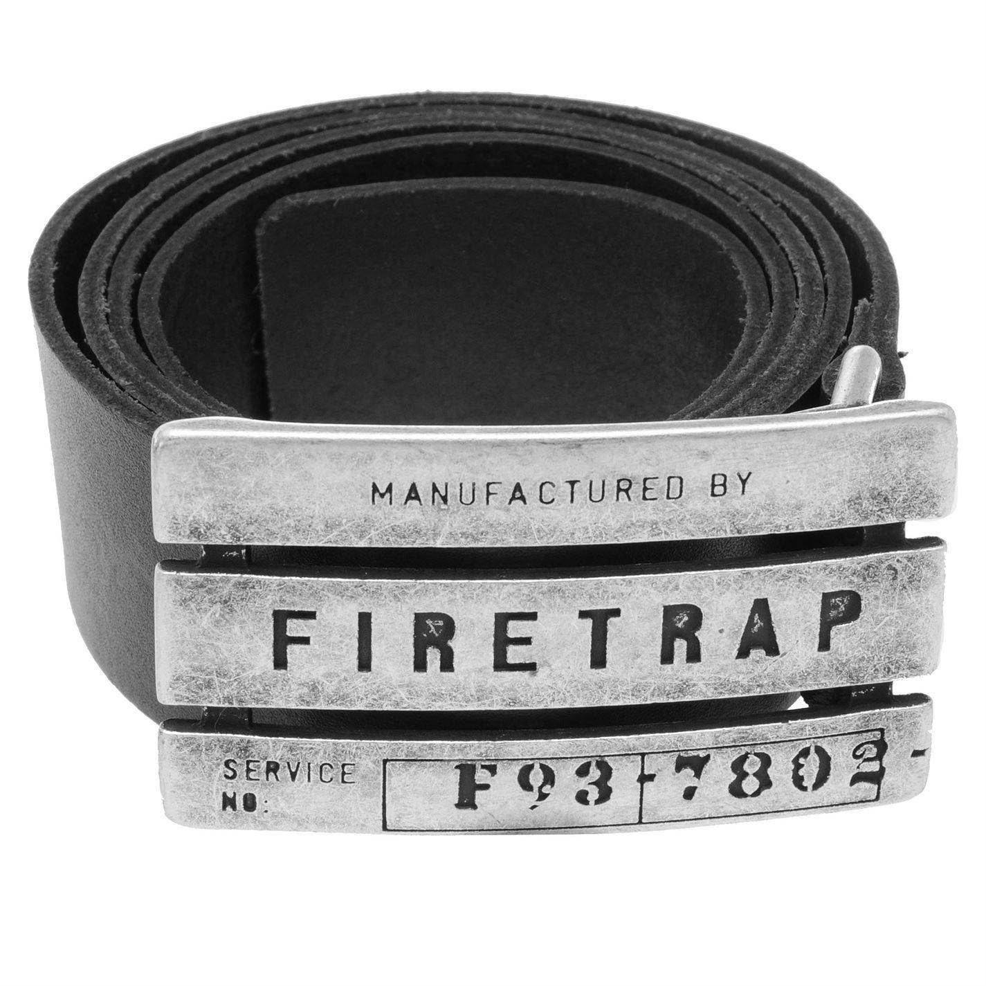 Firetrap-Mens-Gents-Gate-Belt-Stylish-Everyday-Wear-Buckle-Logo-Branded