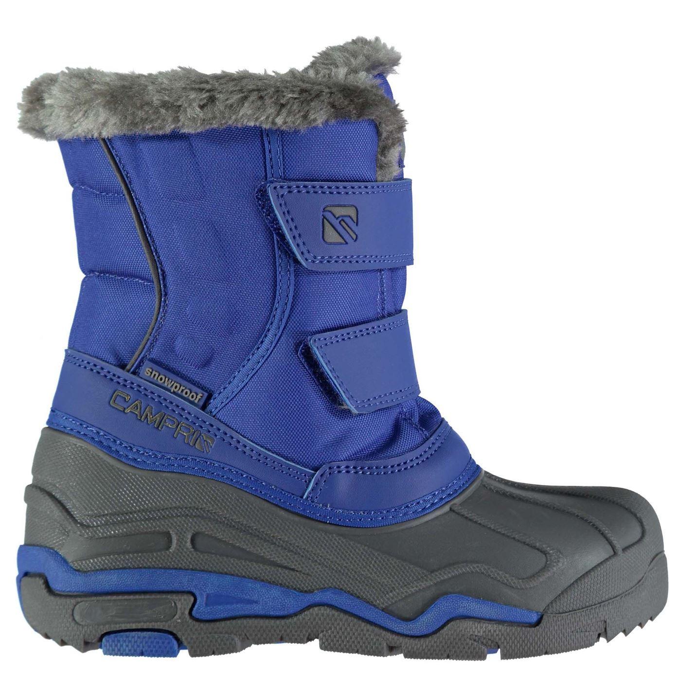 Campri kids snow boots unisex childs waterproof faux fur