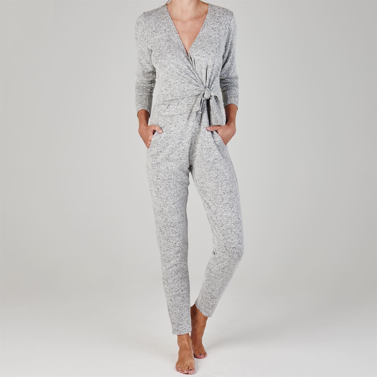 6e8cf52c73 Details about Golddigga Womens Wrap Jumpsuit Long Sleeve