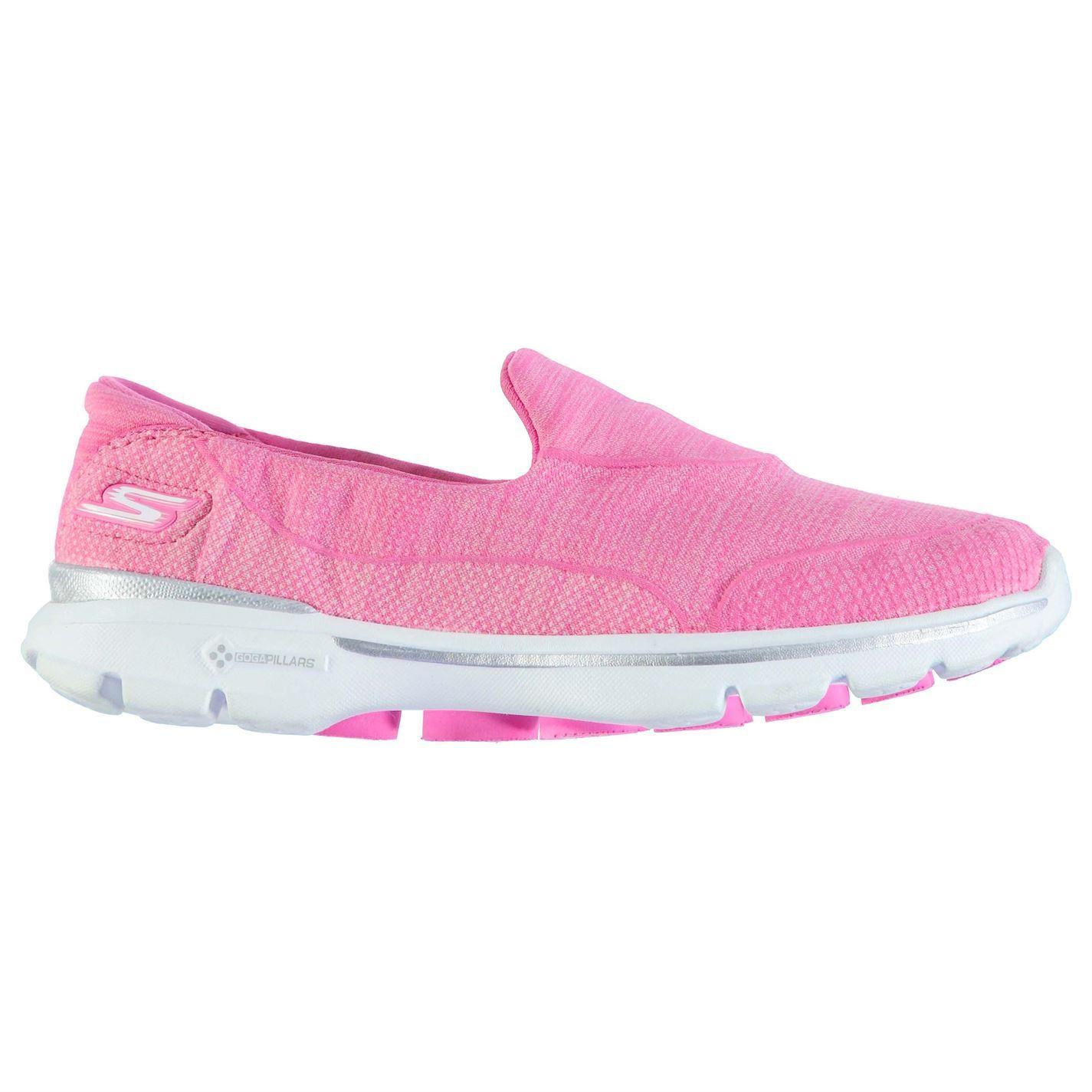 Skechers Womens Go Walk3 Trainers Knitted Upper Padded Slip