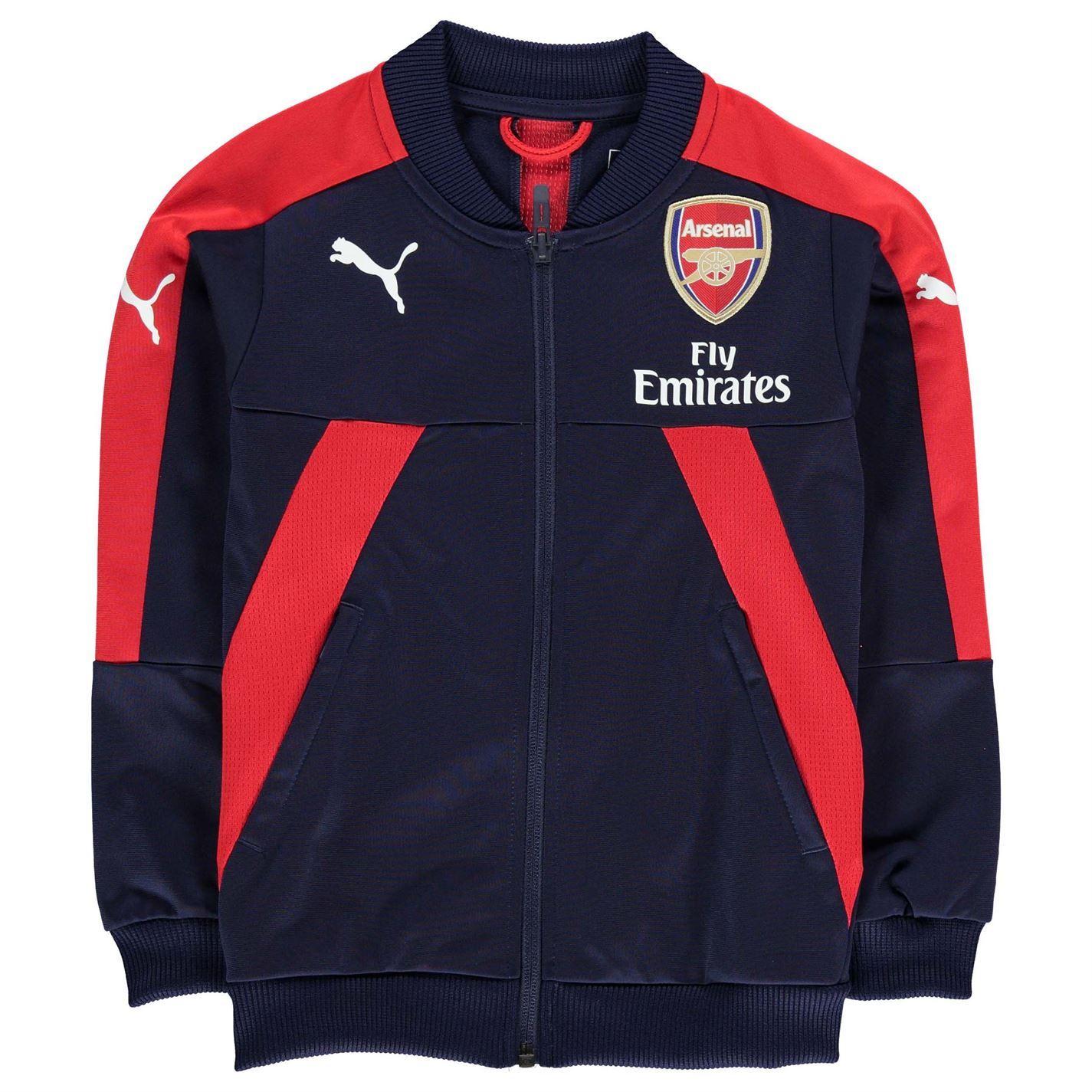 Puma Kids Arsenal Stadium Jacket Coat Top Football Junior Boys