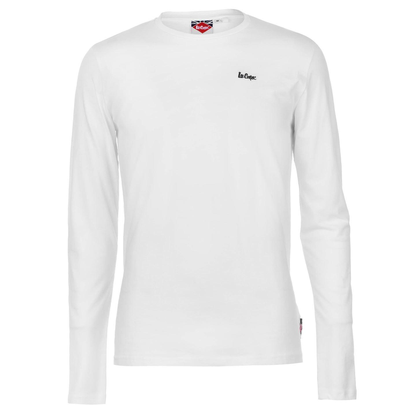 7c628568bb91 Details about Lee Cooper Mens Essentials Long Sleeve Crew T Shirt Top Neck  Lightweight Cotton
