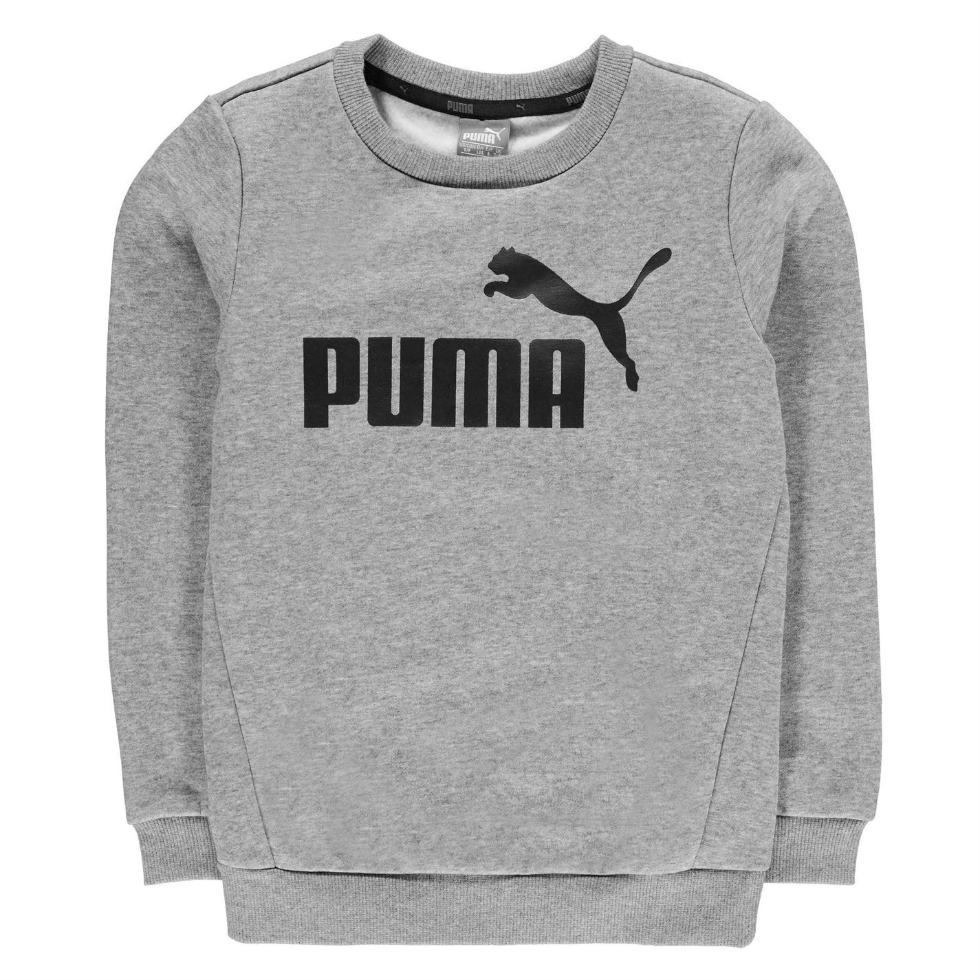 4e4fdc560 Details about Puma Kids No1 Crew Sweat Juniors Sweater Jumper Pullover Long  Sleeve Neck Warm