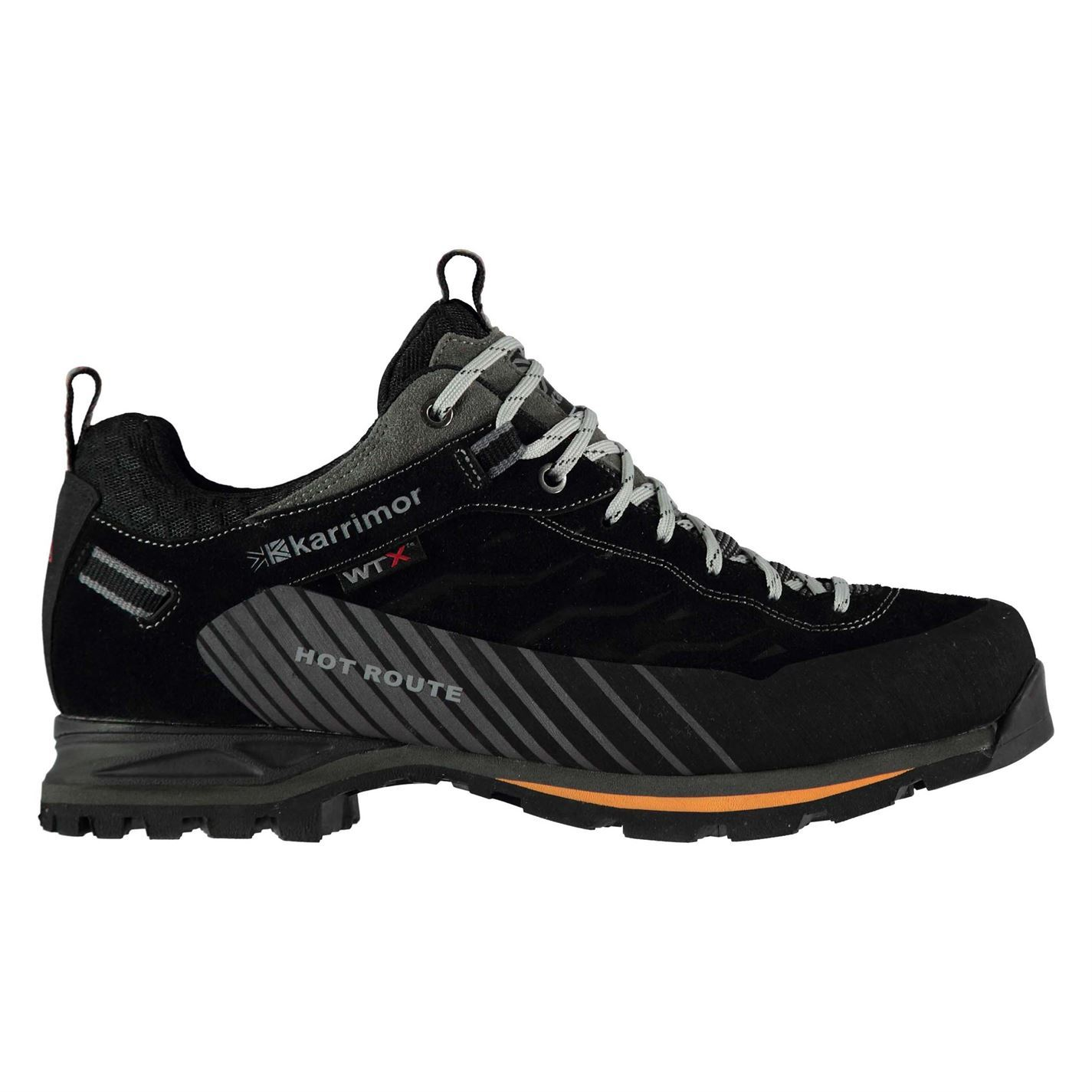 Karrimor  Uomo Hot Route WTX Walking Schuhes Waterproof Lace Up Breathable Leder