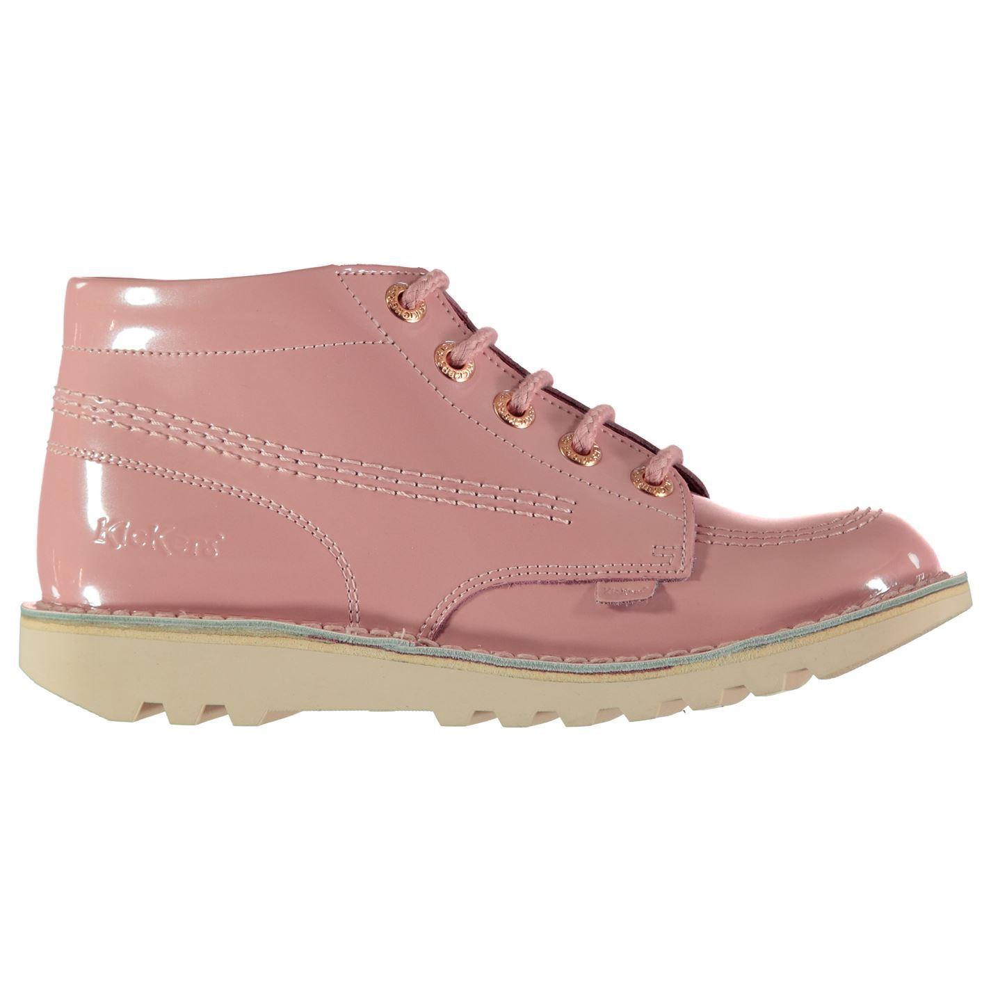 Kickers Leder Damenschuhe Hi Leder Kickers Schuhes Lace Up Upper 7296d8