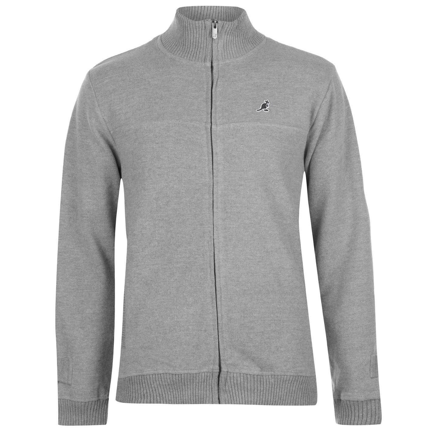 26dd0d820c Details about Kangol Mens Ribbed Zip Through Funnel Necked Sweater Full Jumper  Pullover Long