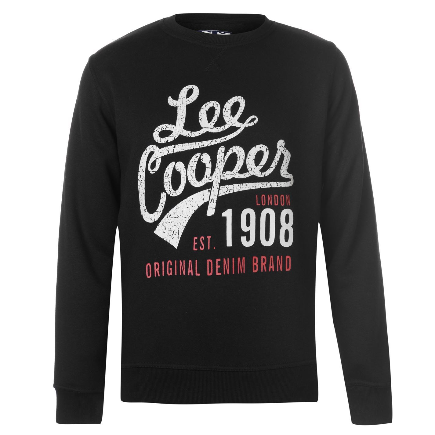 Image is loading Lee-Cooper-Mens-Crew-Logo-Sweater-Jumper-Pullover-