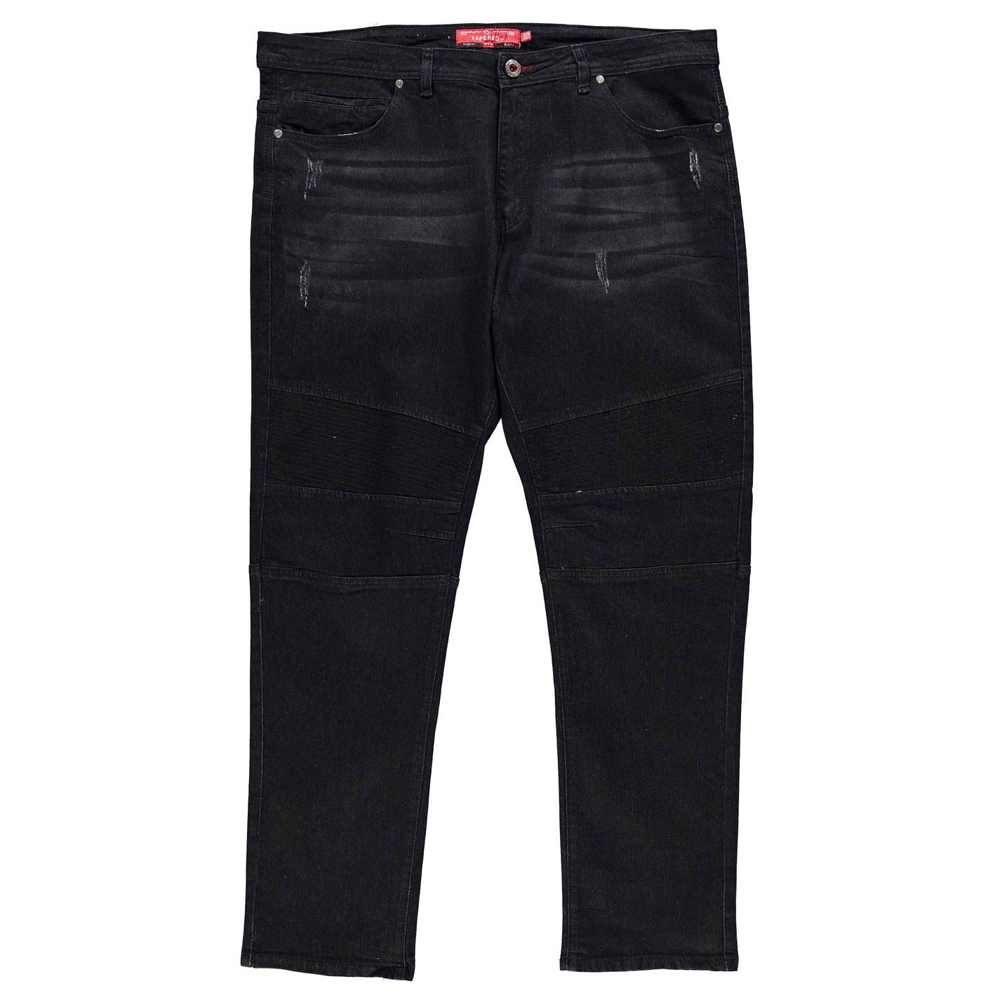 D555-Domenic-Tapered-Fit-Jeans-Mens-Gents-Loose-Pants-Trousers-Bottoms-Zip