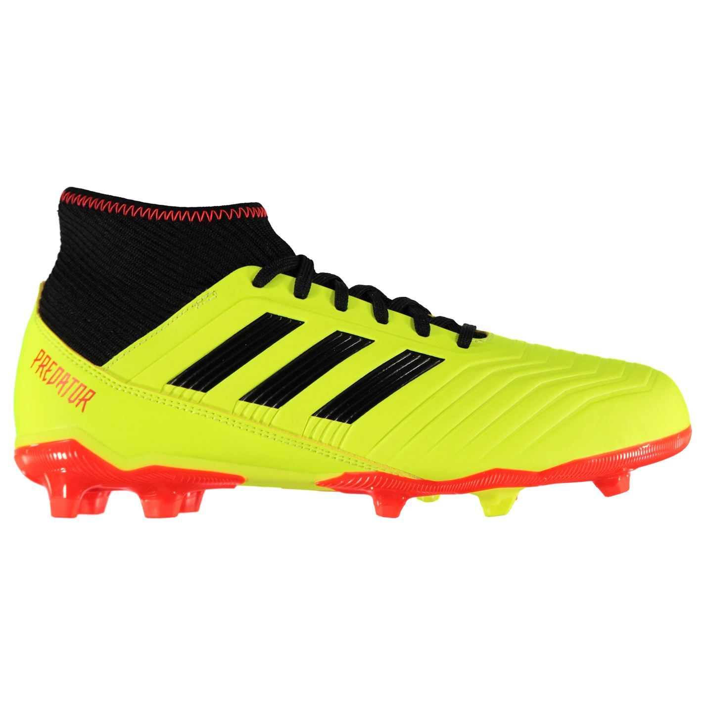 c7d54ae8583e adidas Kids Boys Predator 18.3 Junior FG Football Boots Firm Ground Lace Up