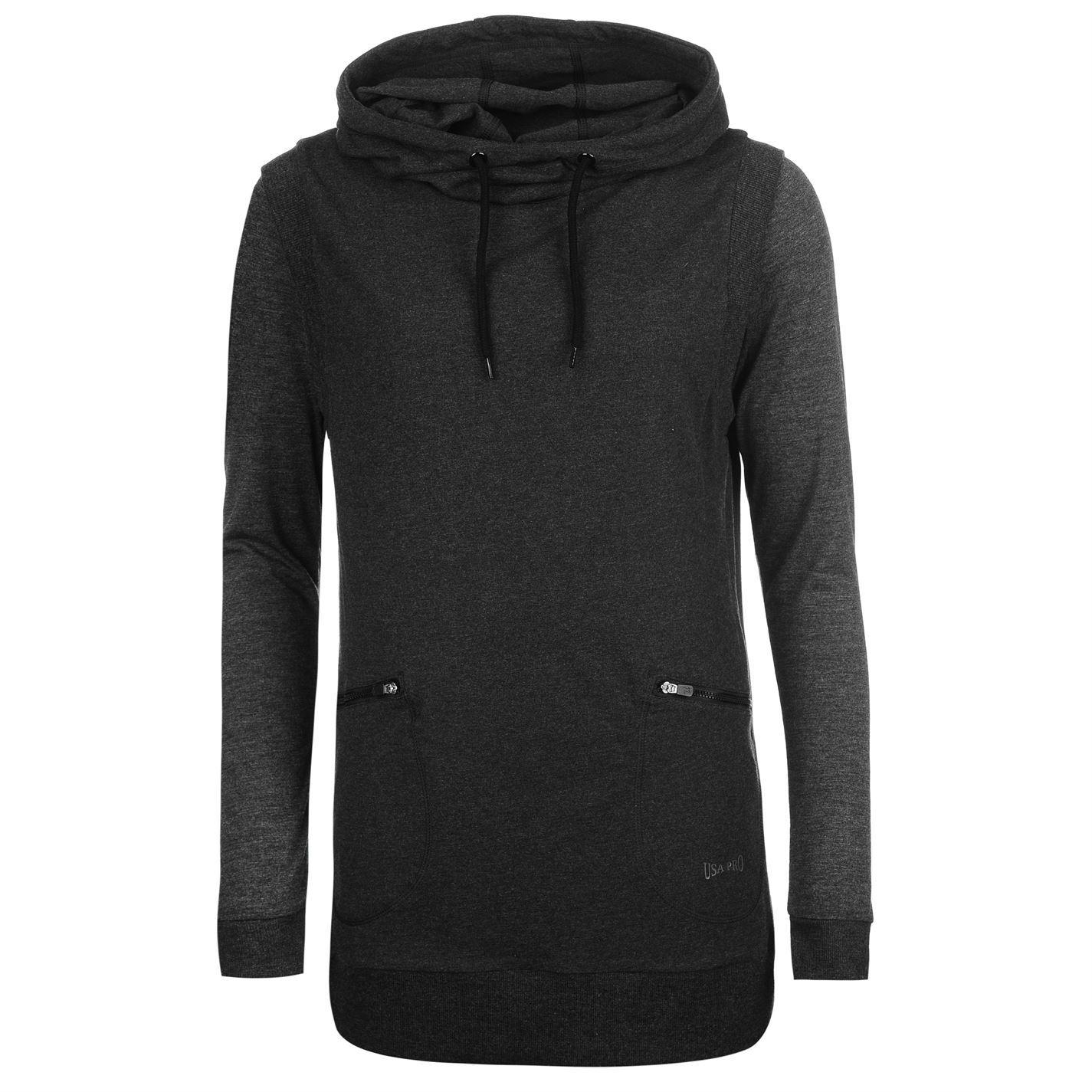 USA-Pro-Womens-D-Layer-Hoodie-Hoody-Hooded-Top-Long-Sleeve-Drawstring