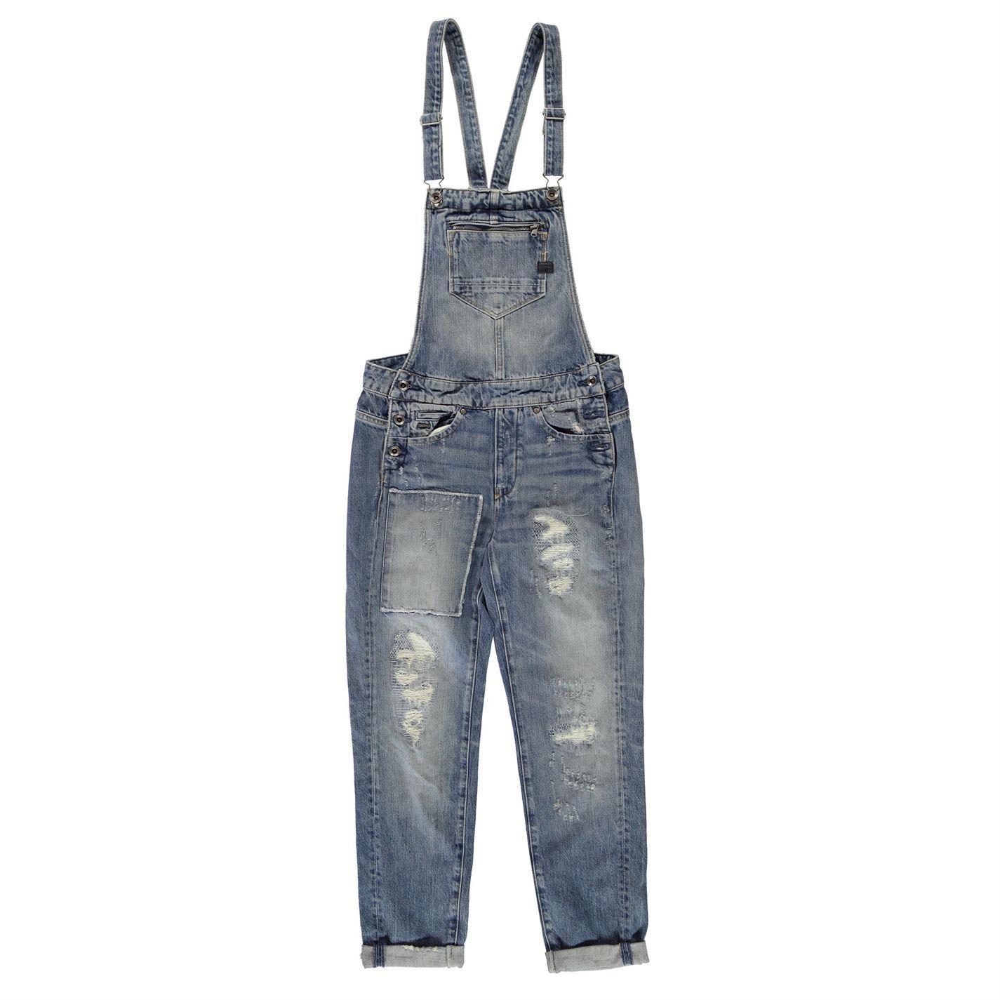 a804737b1d4d9 G Star Womens Midge Slim Salopette Jumpsuit Cotton Zip Distressed Tonal