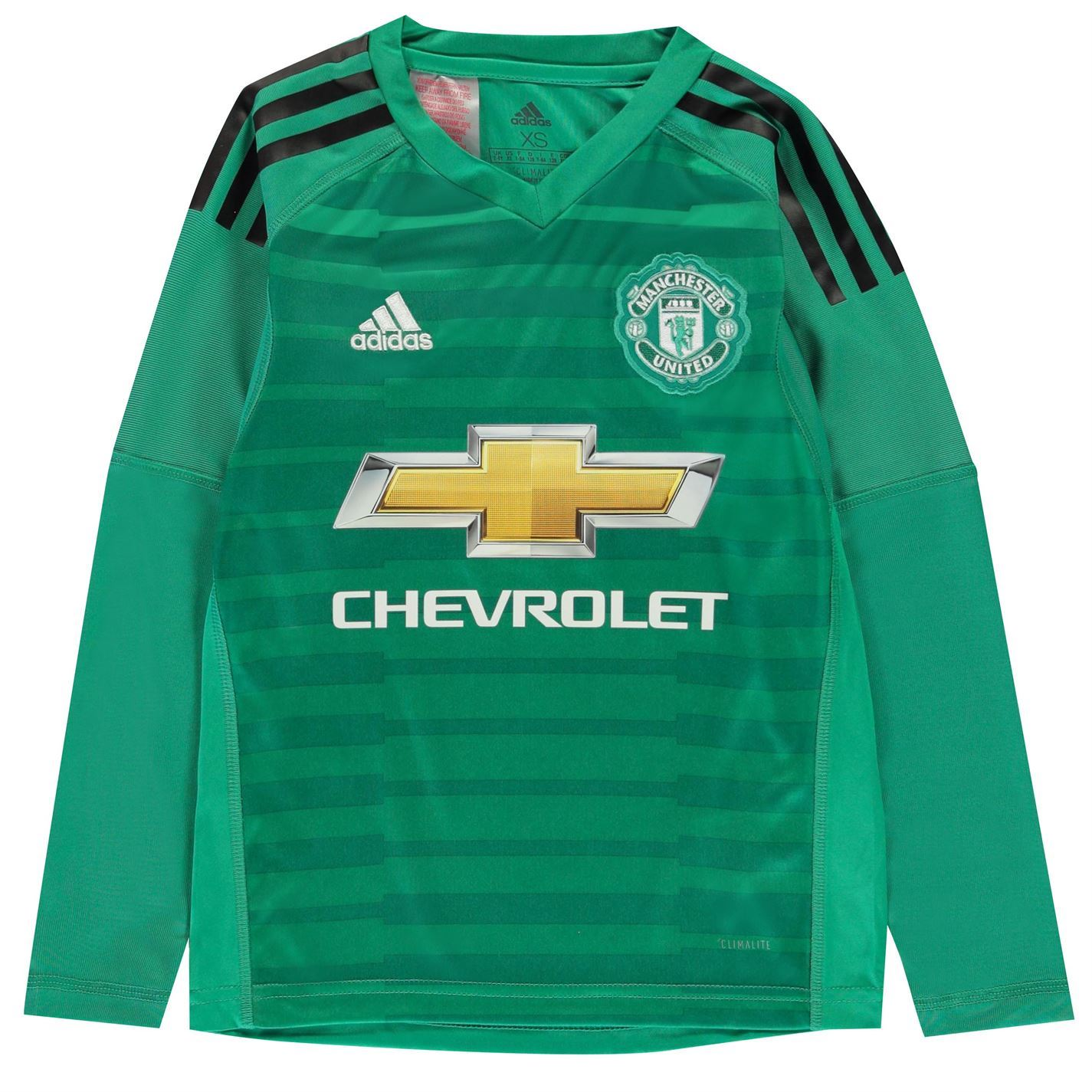 c04bb875821 adidas Kids Manchester United Home Goalkeeper Shirt 2018 2019 Junior  Domestic