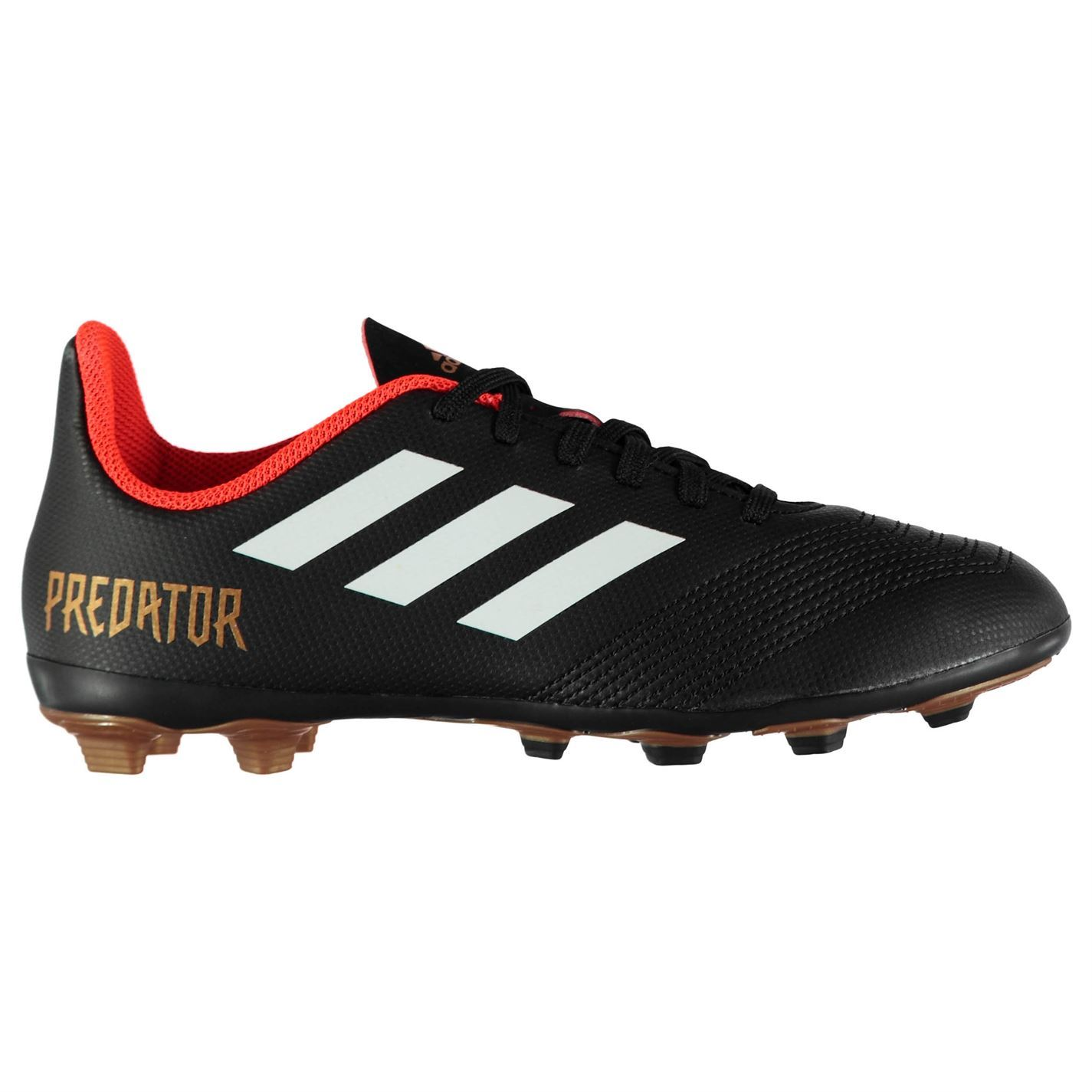 06ace9c10734 adidas Kids Predator 18.4 Junior FG Football Boots Firm Ground Lace Up  Padded